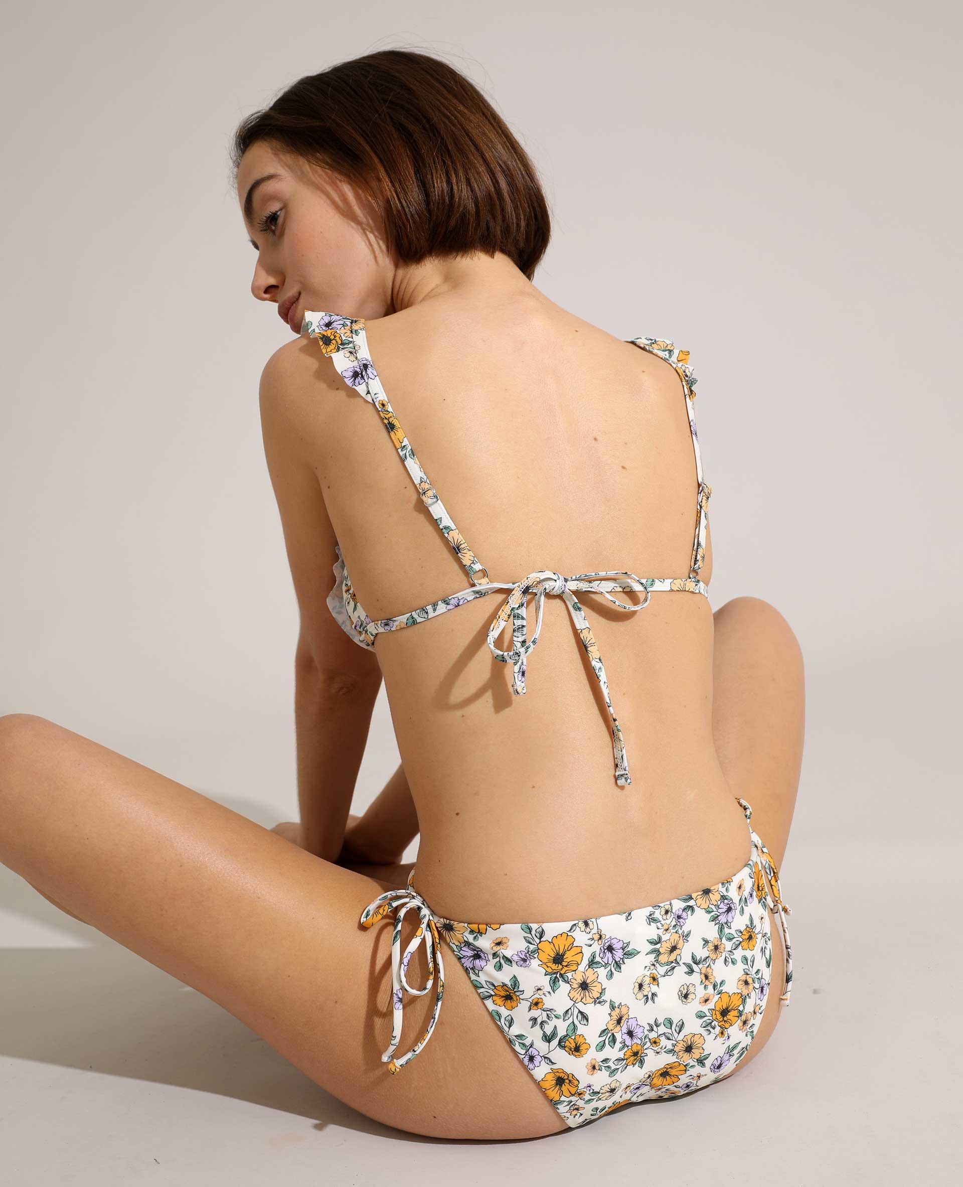 Haut de maillot de bain triangle à motifs fleurs blanc - Pimkie