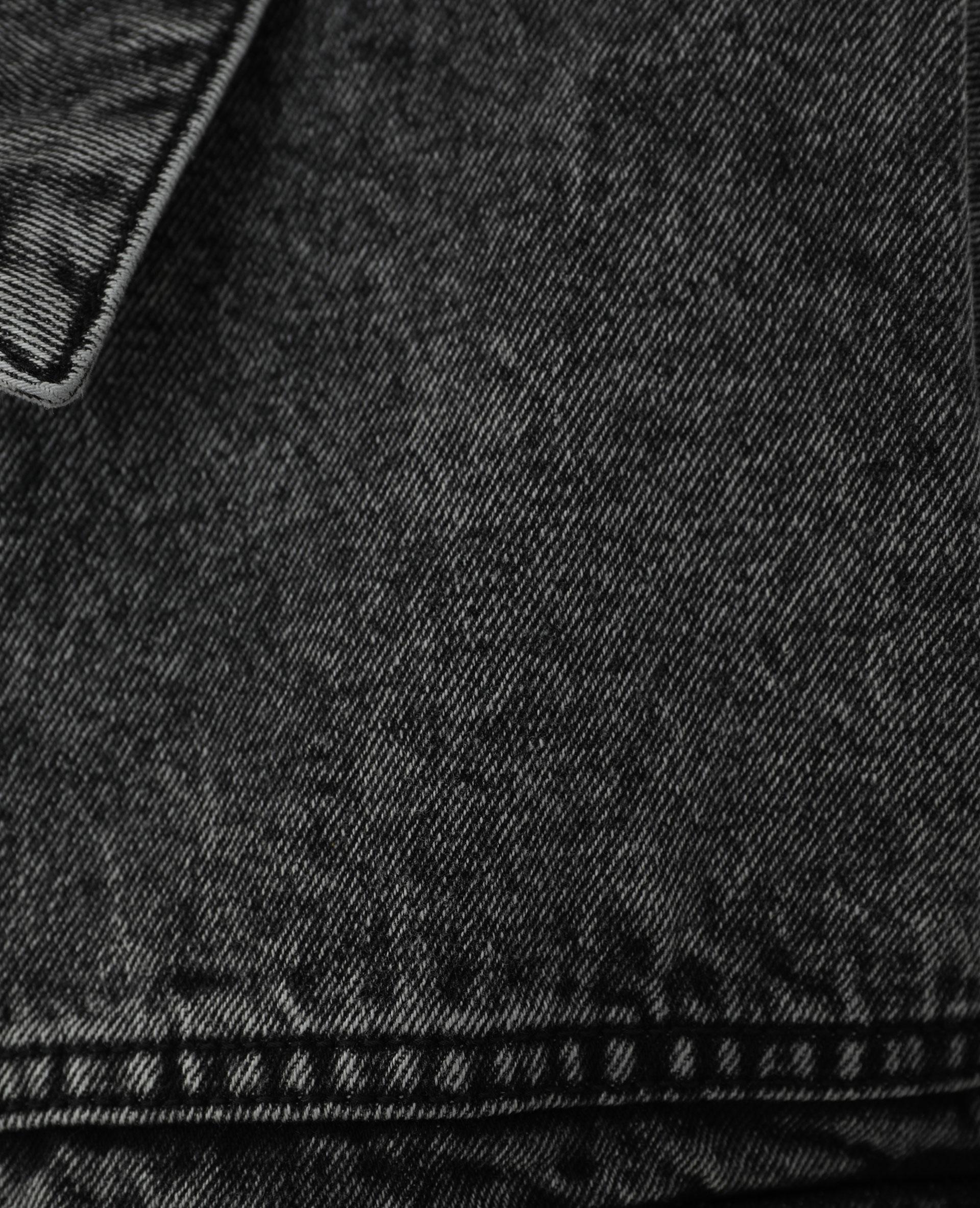 Veste en jean oversize noir - Pimkie