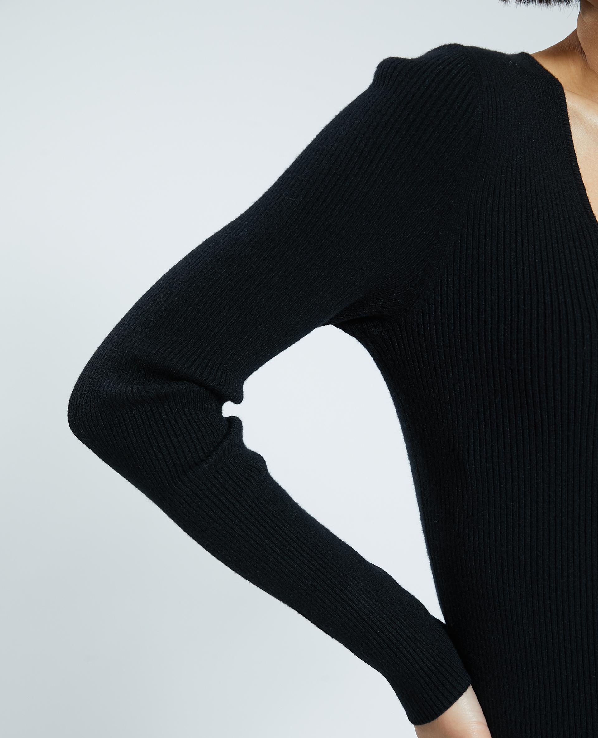 Robe en maille noir - Pimkie