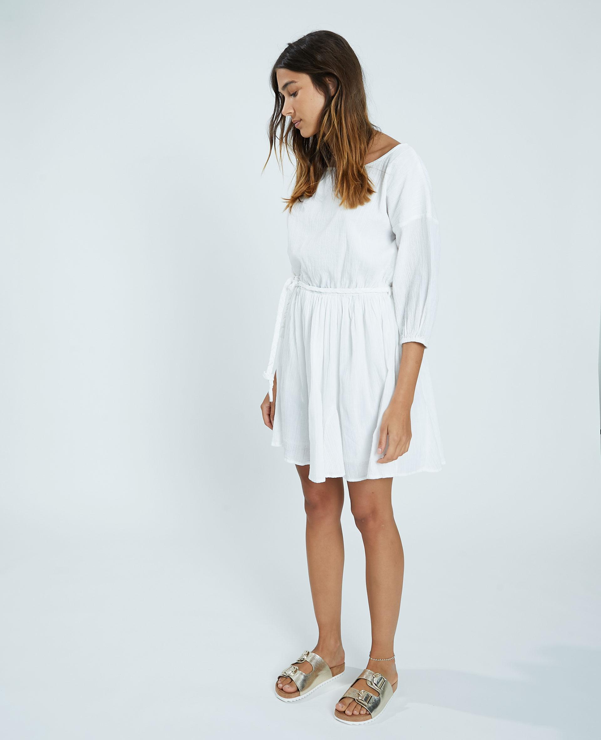 Robe aspect froissé blanc cassé - Pimkie