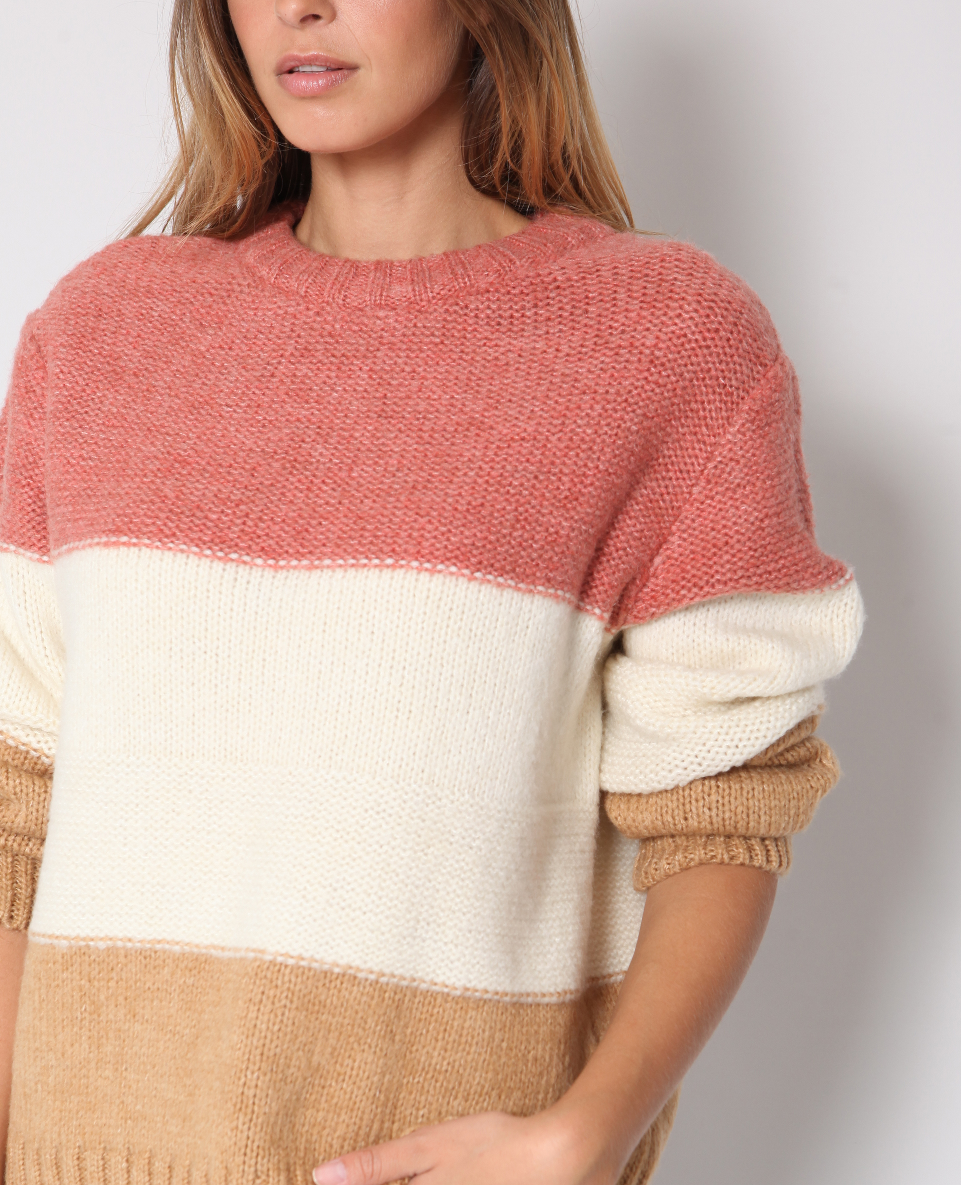 Pull à rayures rose - Pimkie
