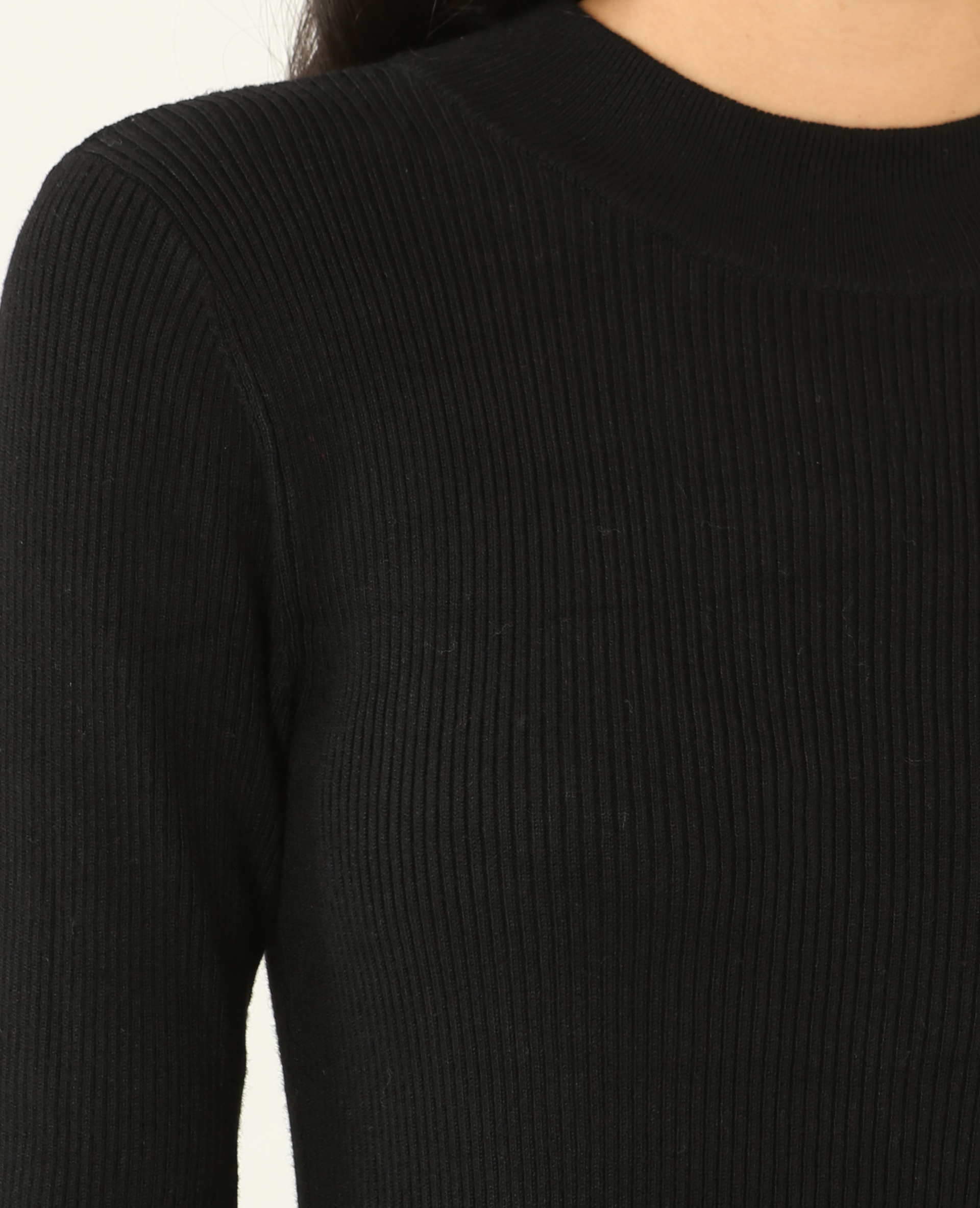 Robe pull moulante noir - Pimkie