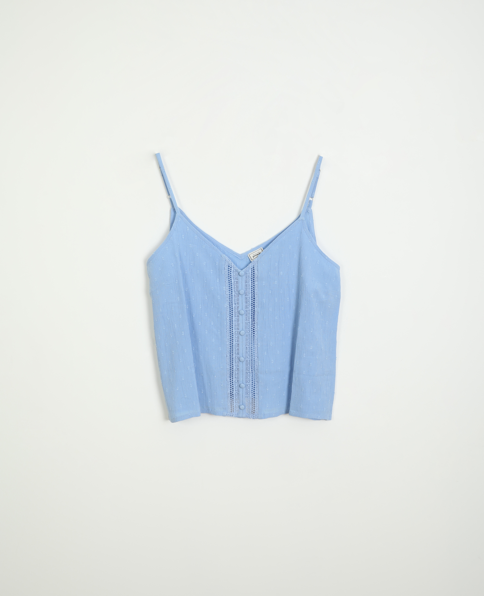 Top plumetis bleu - Pimkie