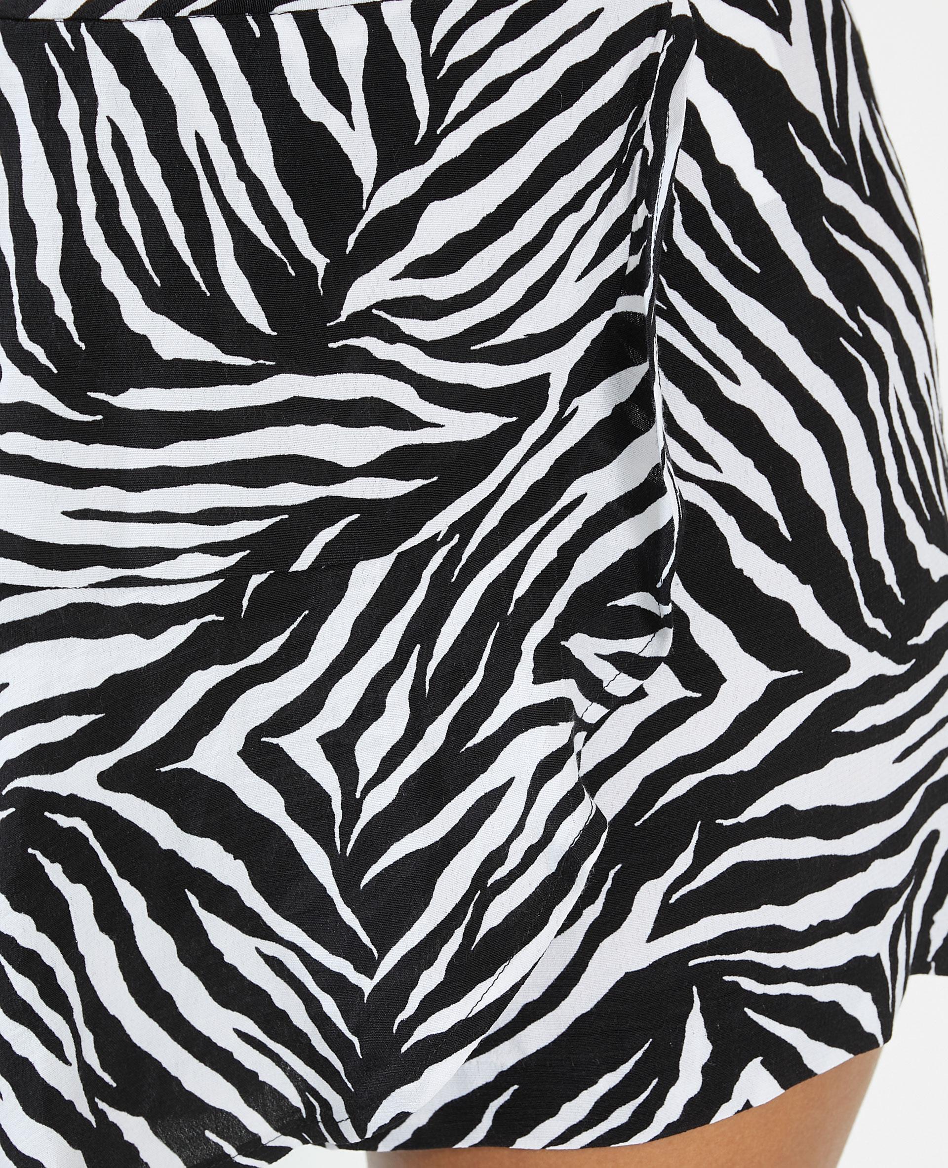 Jupe-short tigrée noir - Pimkie