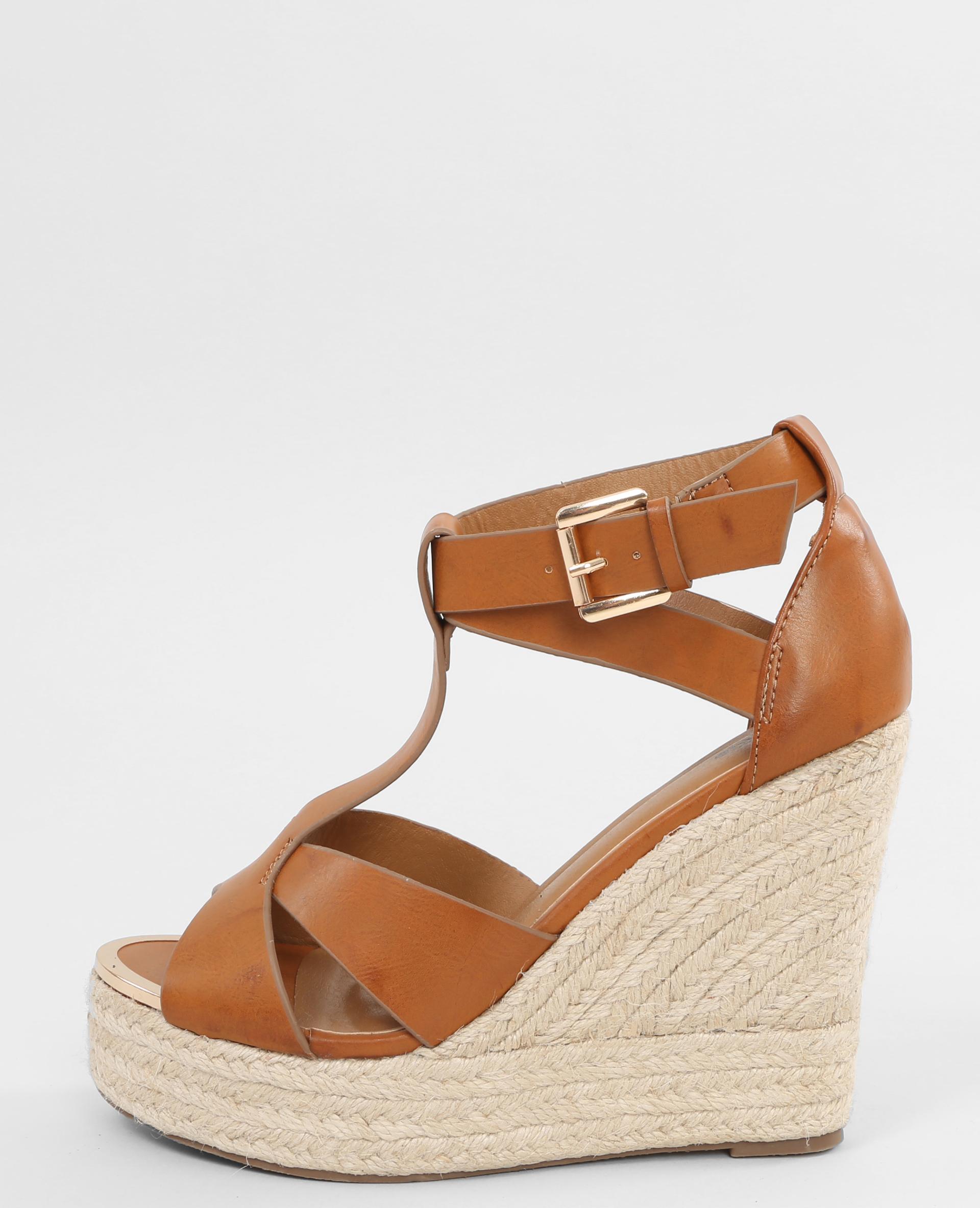 sandales compens es marron 988063747a07 pimkie. Black Bedroom Furniture Sets. Home Design Ideas