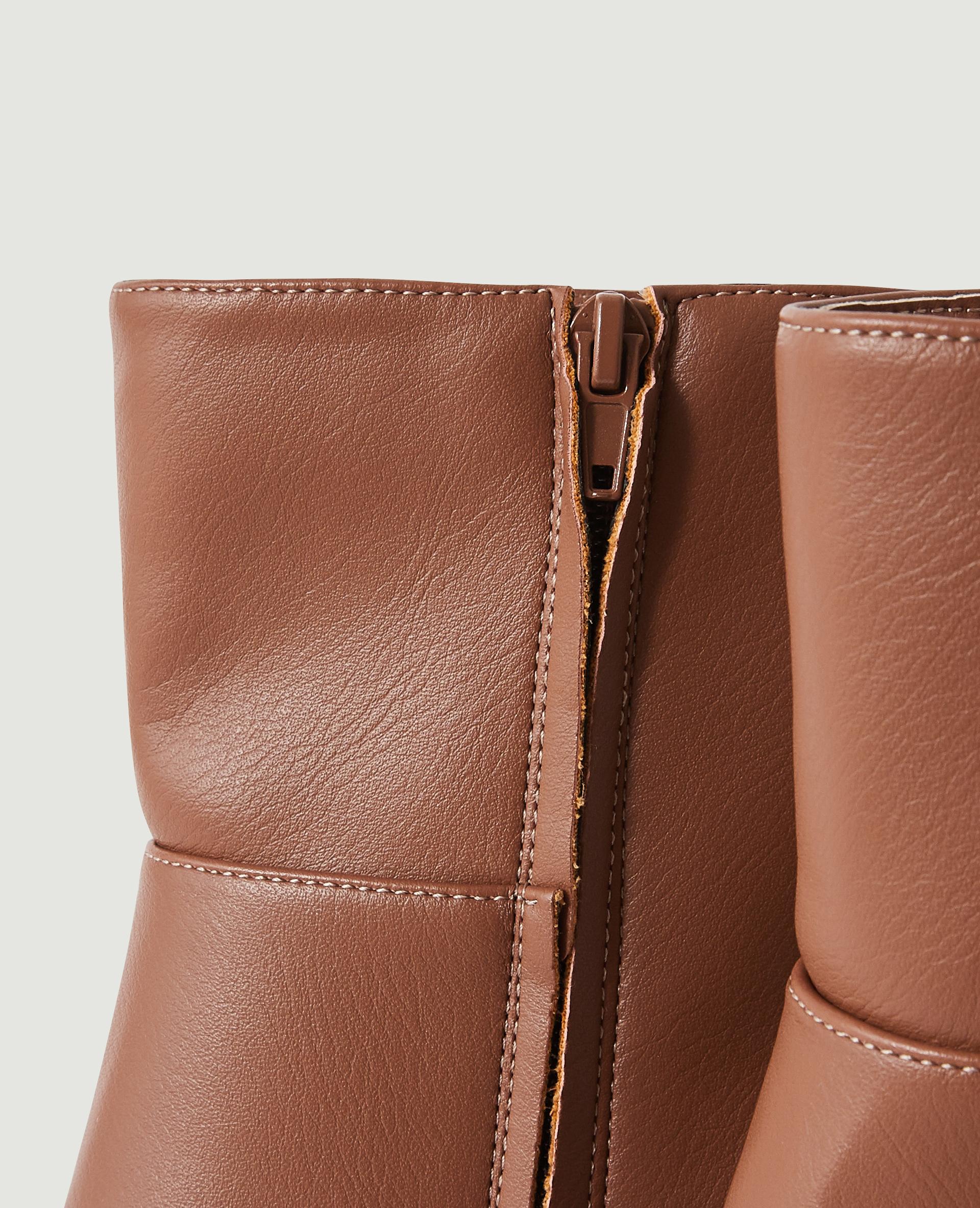 Bottines pointues à talon en simili cuir marron - Pimkie