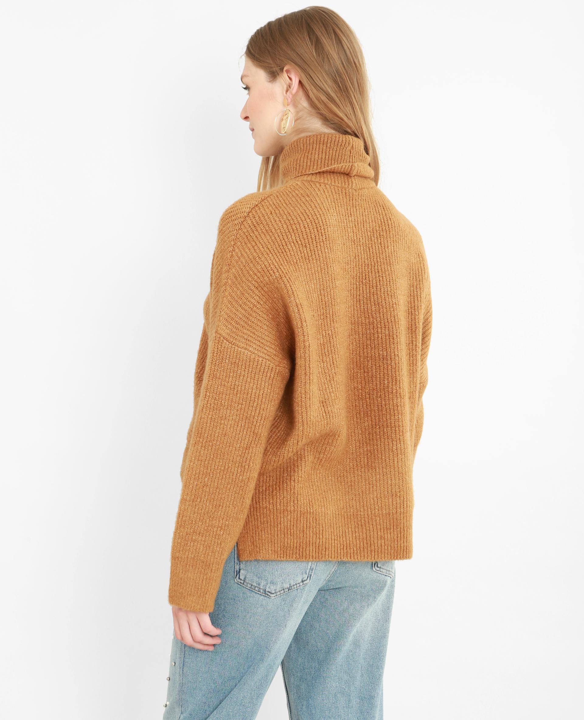 Pull chaud col roulé camel - Pimkie