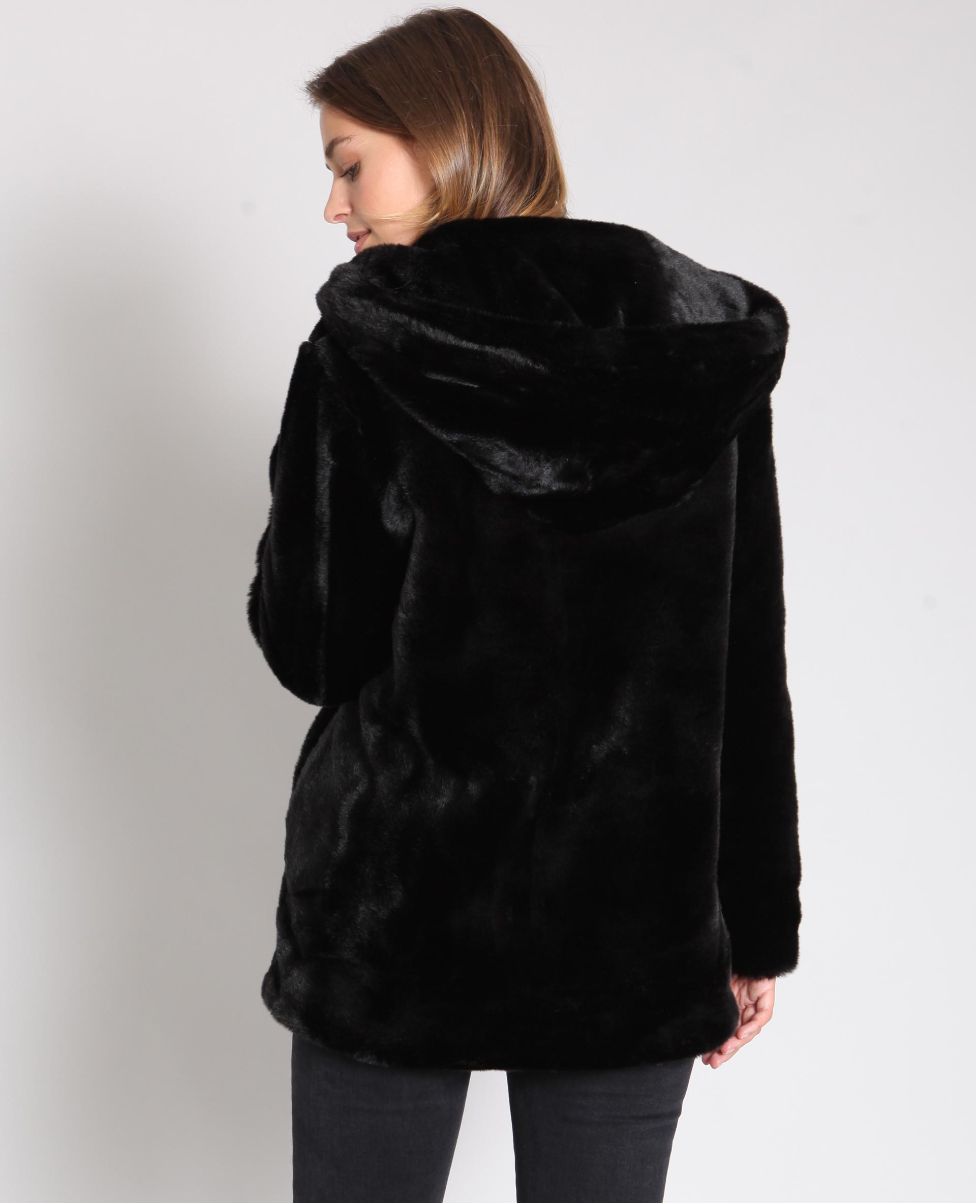 veste en fausse fourrure noir 280190899a08 pimkie. Black Bedroom Furniture Sets. Home Design Ideas