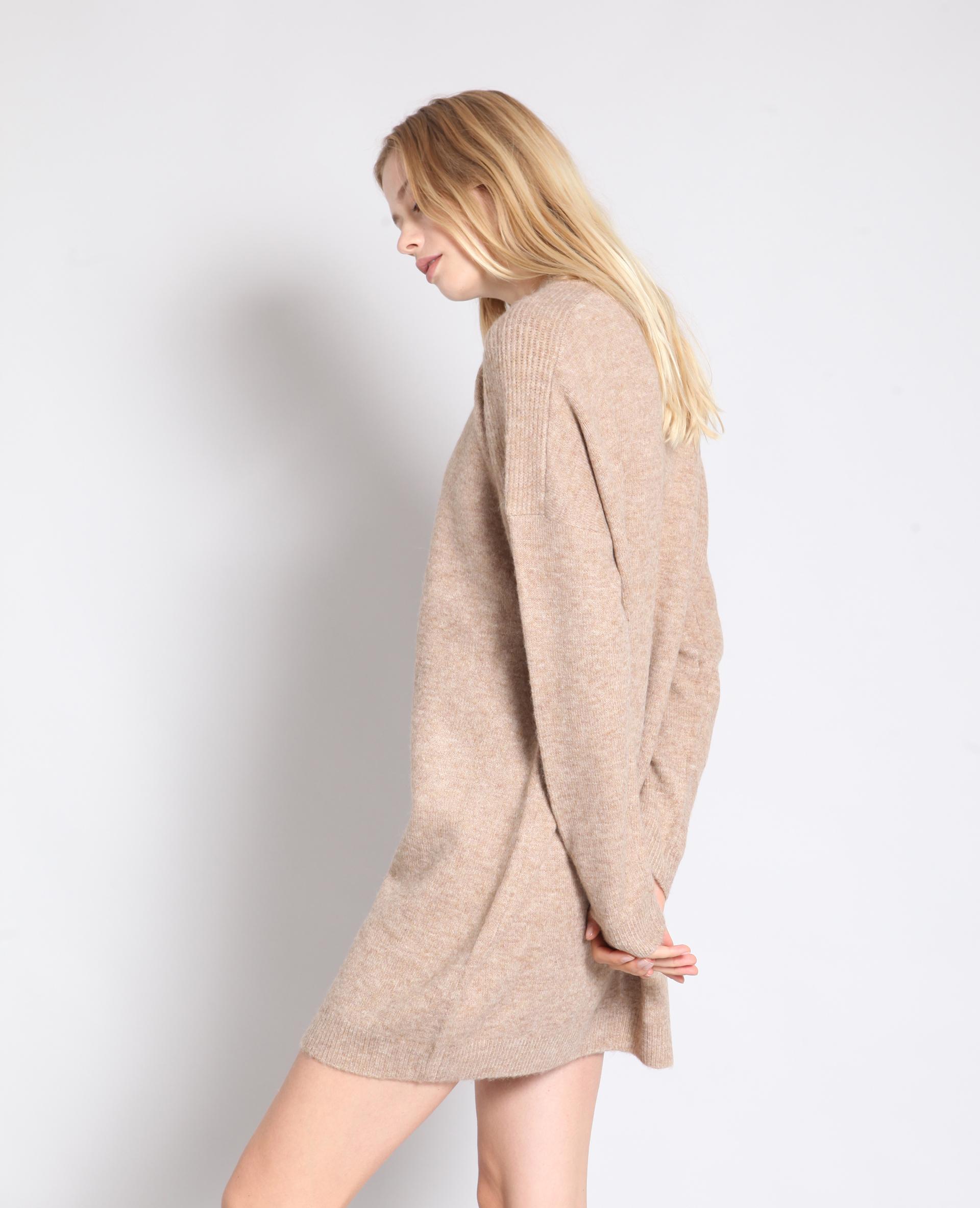 Robe pull beige sable - Pimkie