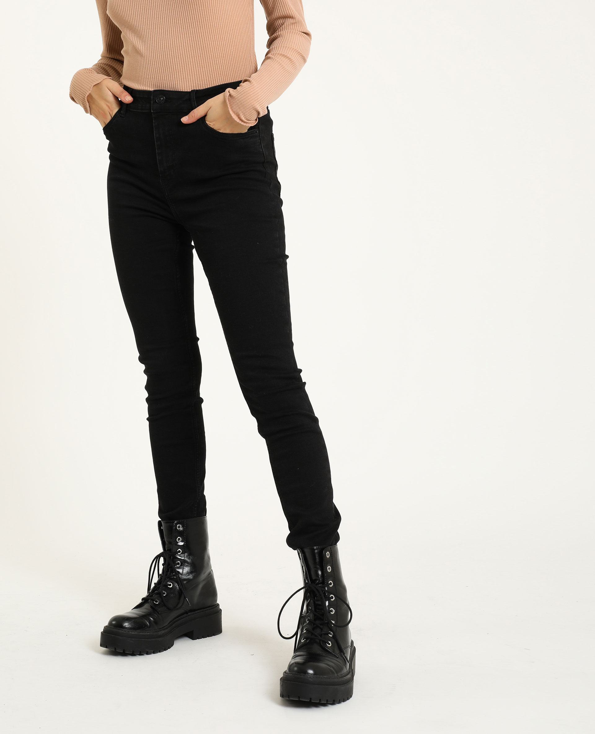 Jean skinny mid waist noir - Pimkie