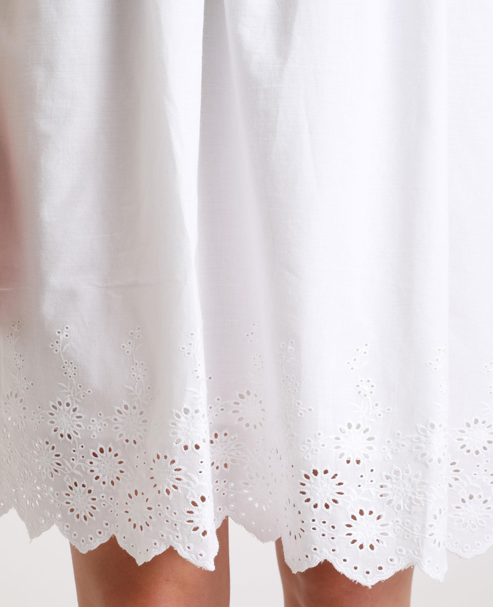 Robe à broderie anglaise blanc cassé - Pimkie