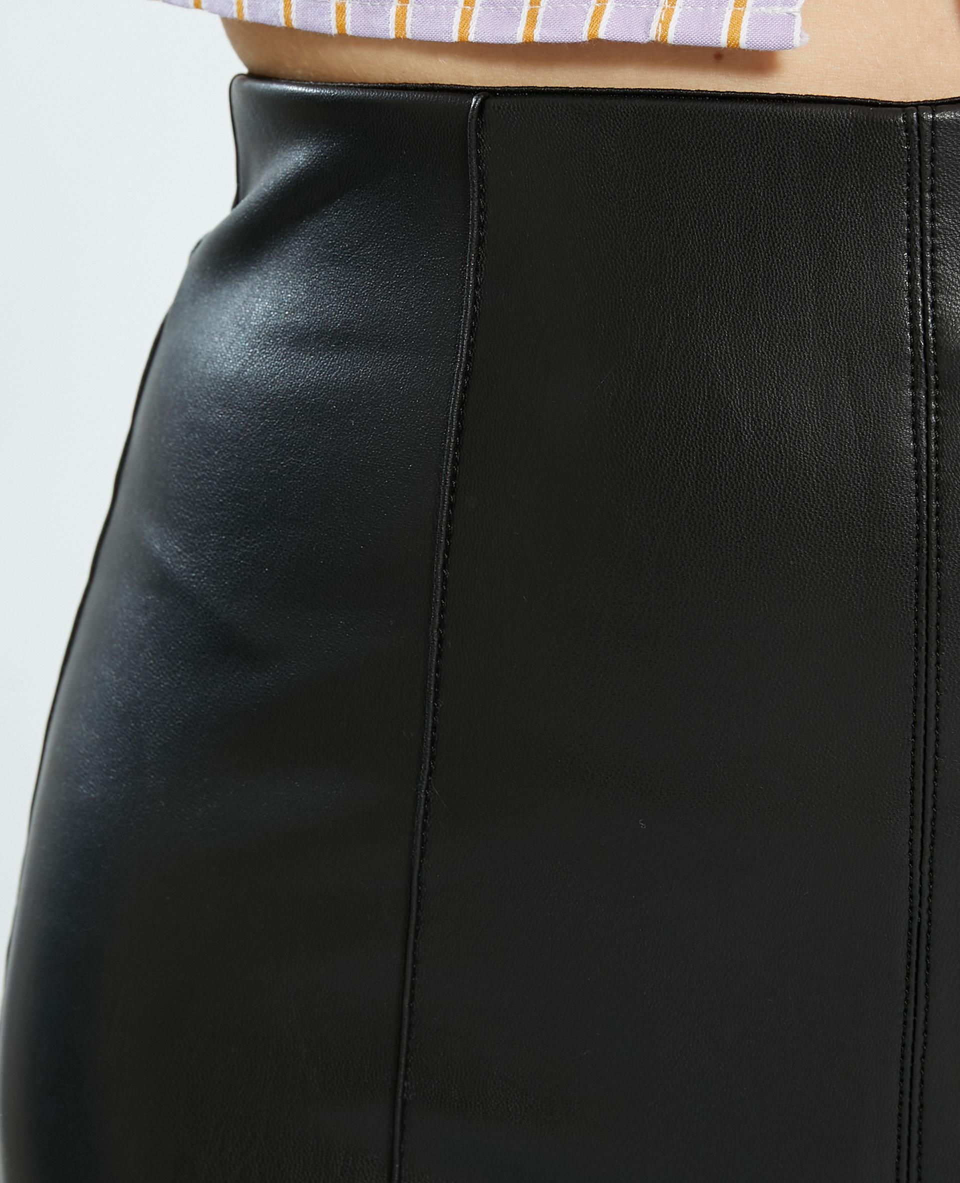 Legging en simili cuir noir - Pimkie