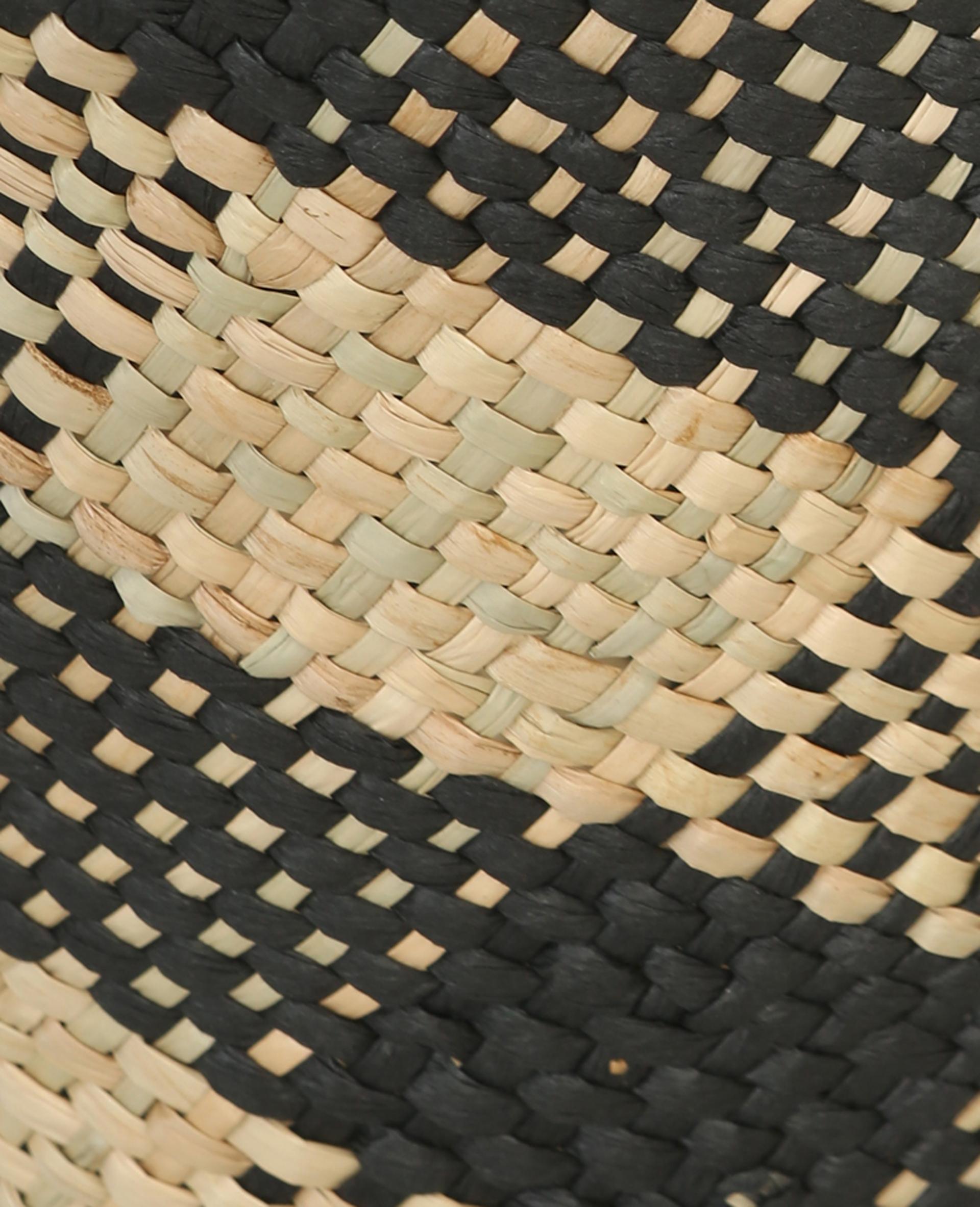Cache-pot en paille tressée beige - Pimkie