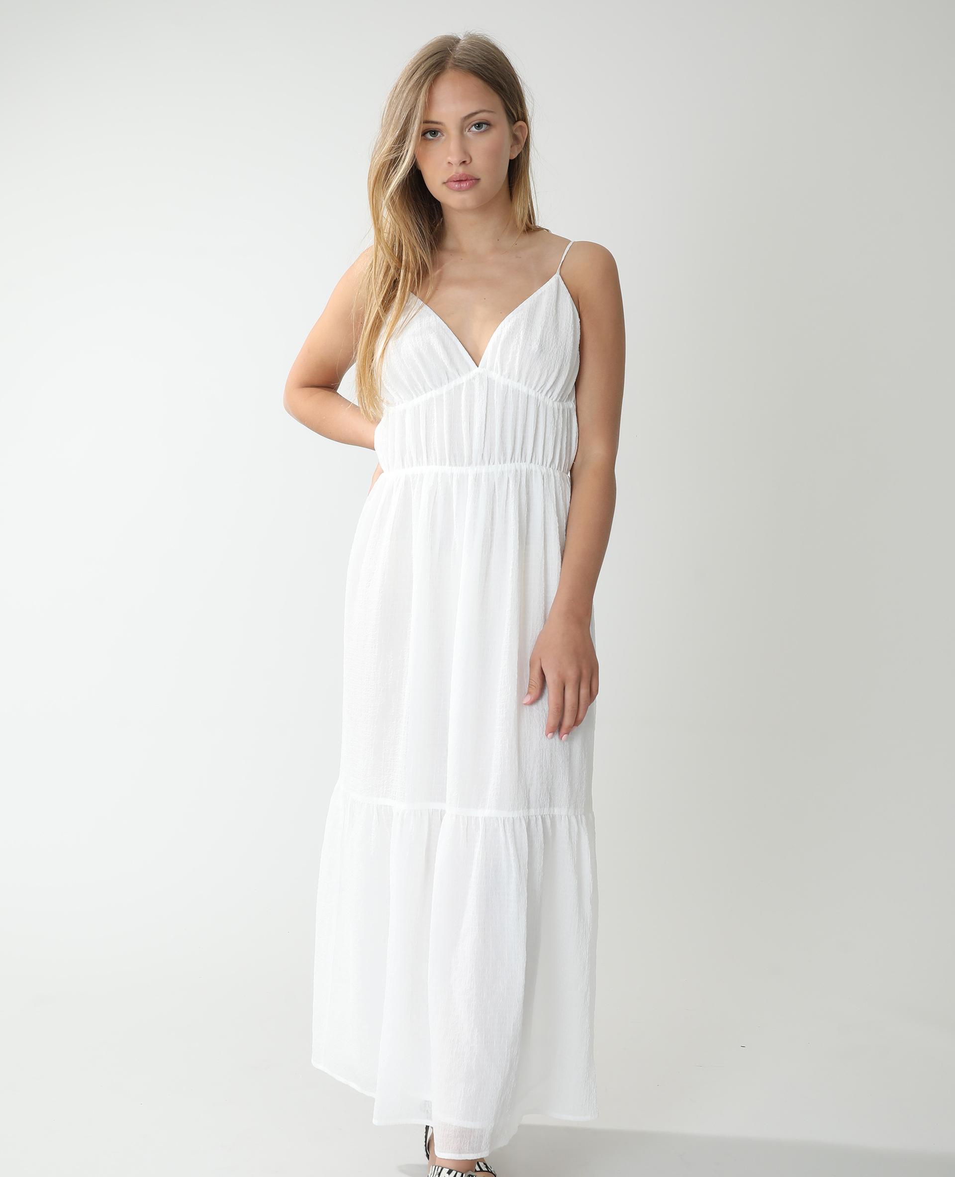 Robe longue vaporeuse blanc cassé - Pimkie