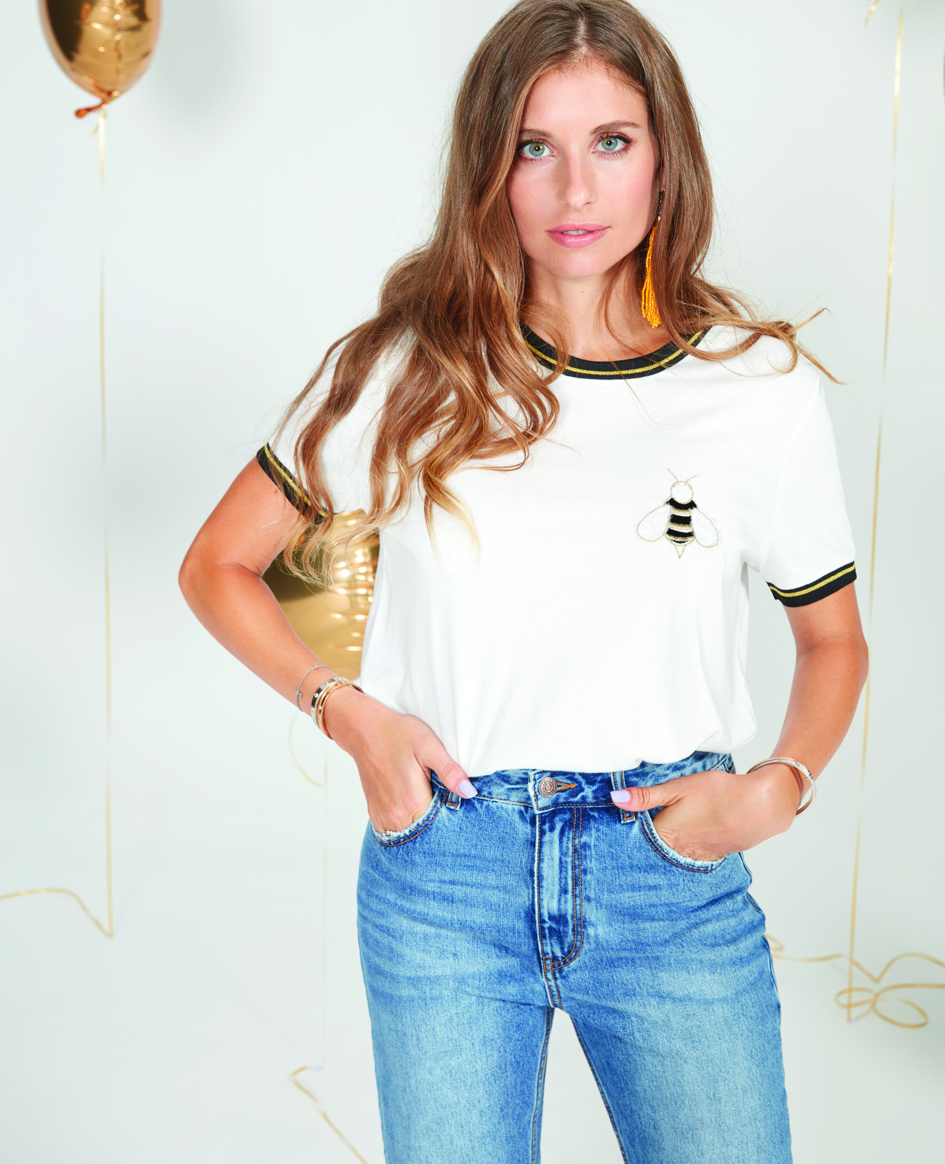 T-shirt Cathy Hummels blanc cassé - Pimkie