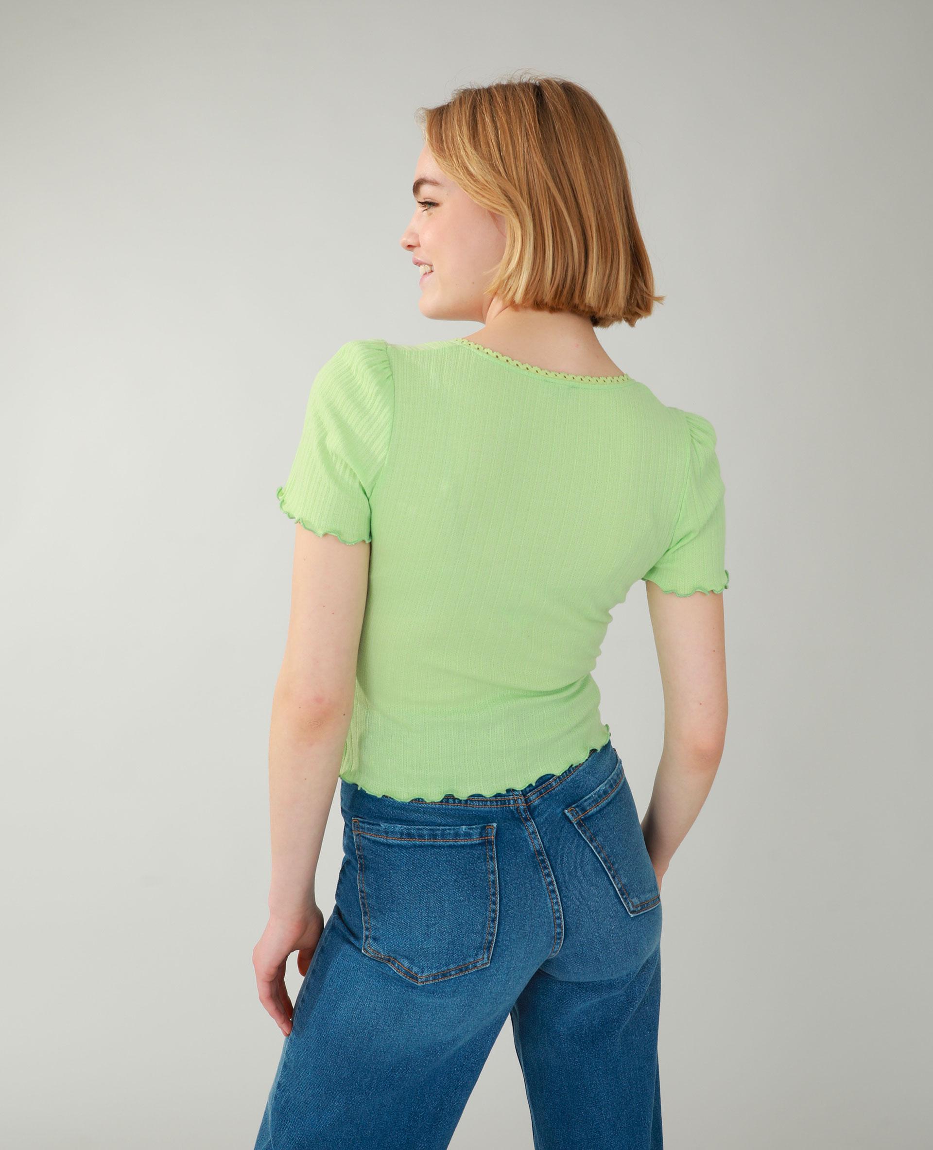 T-shirt côtelé vert - Pimkie
