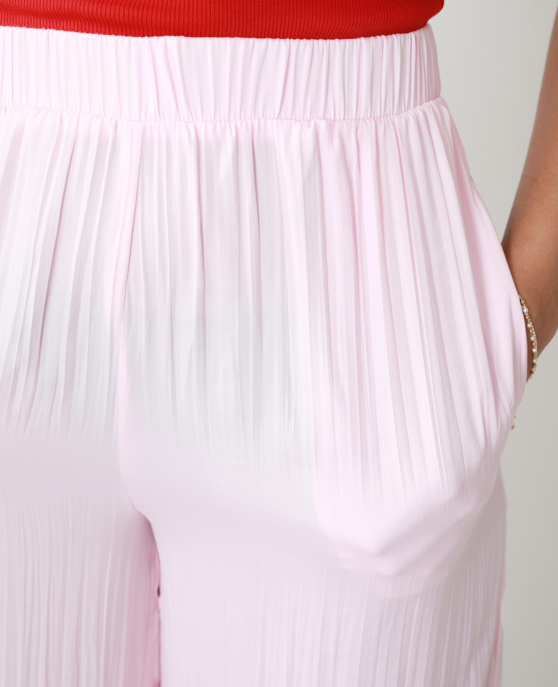 Pantalon wide leg plissé rose - Pimkie