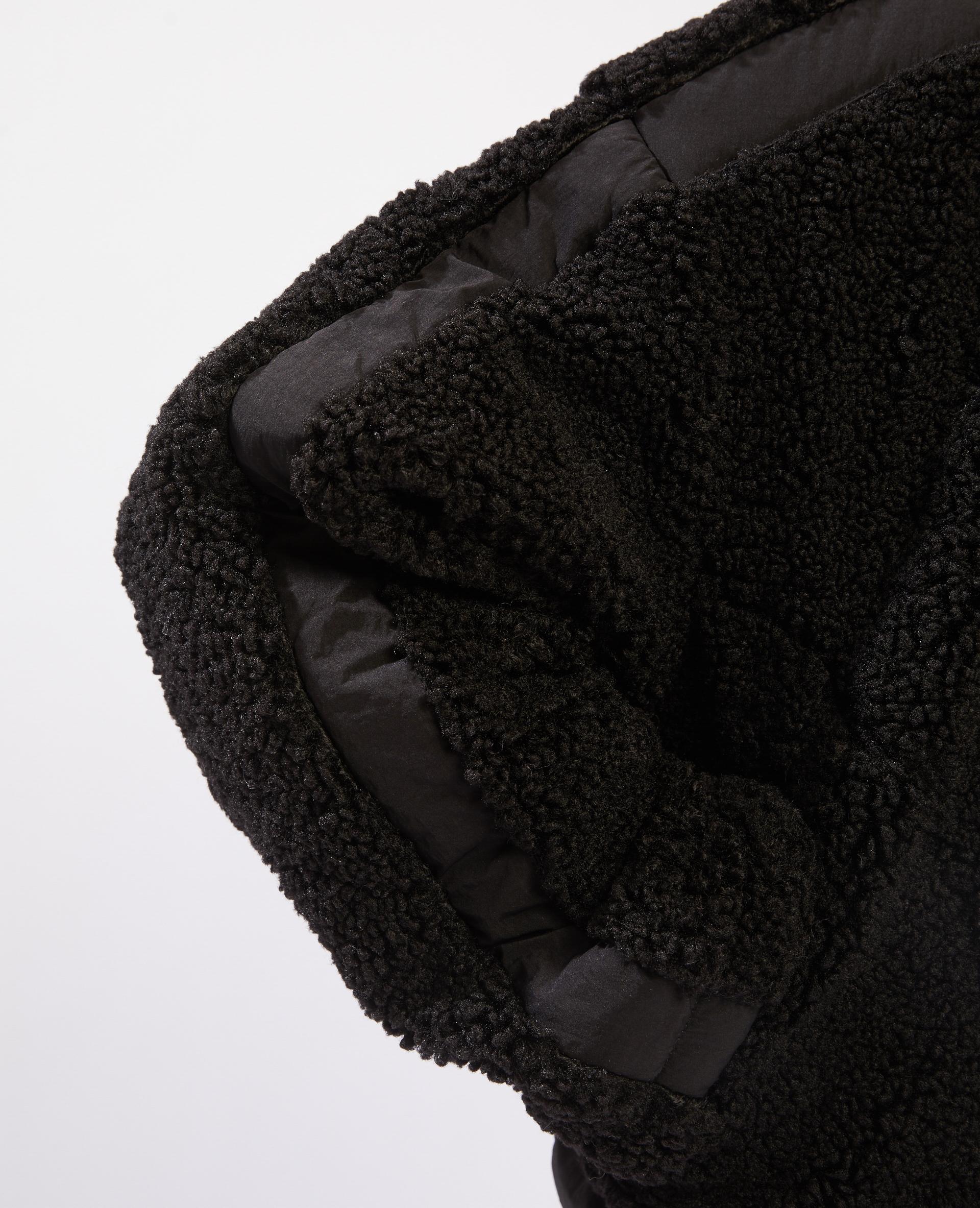 Veste réversible fausse fourrure noir - Pimkie