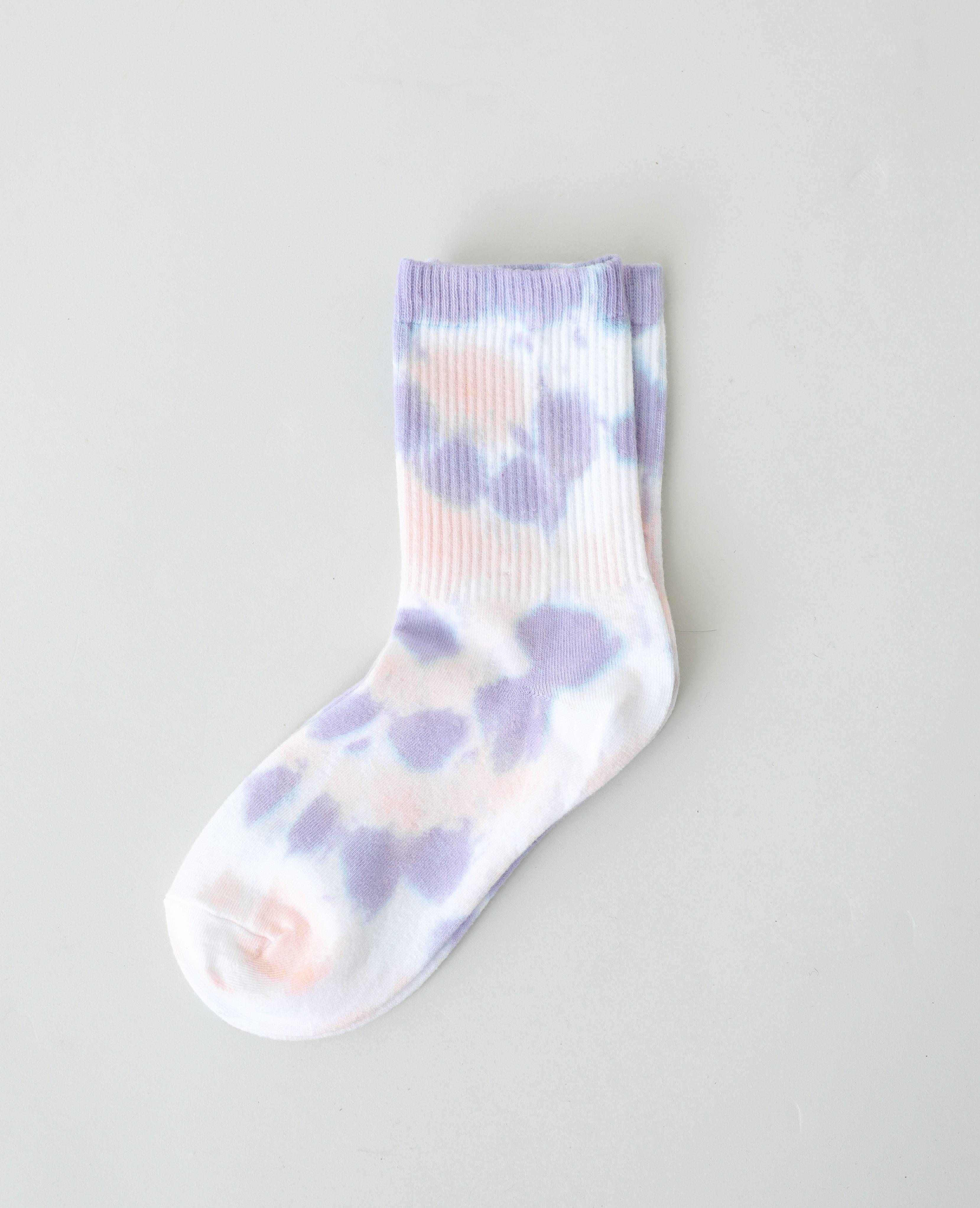 Paire de chaussettes tie and dye violet - Pimkie