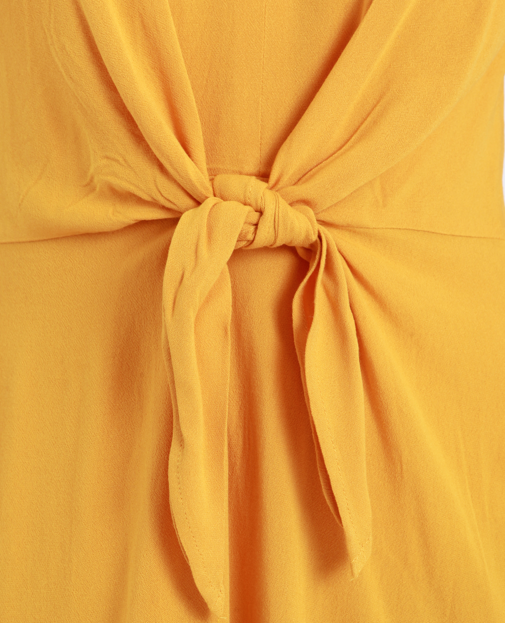 Robe nouée poitrine jaune - Pimkie