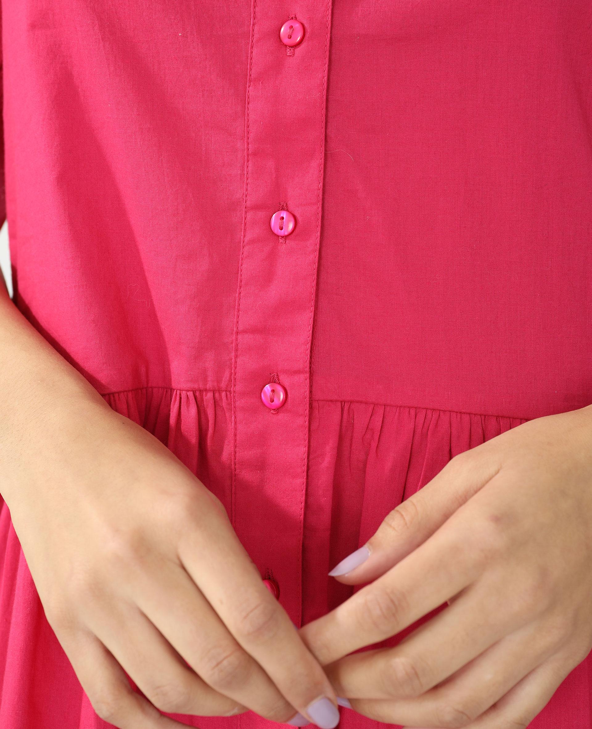 Robe chemise rose - Pimkie
