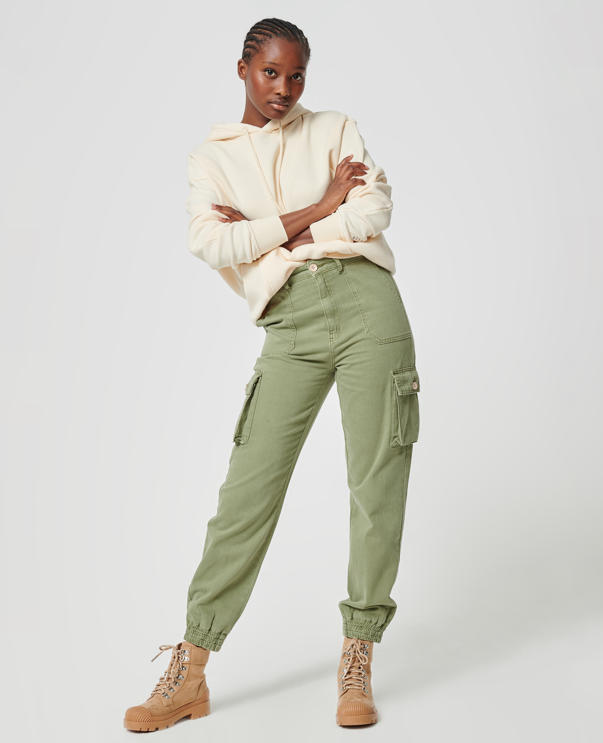 Pantalon cargo kaki - Pimkie