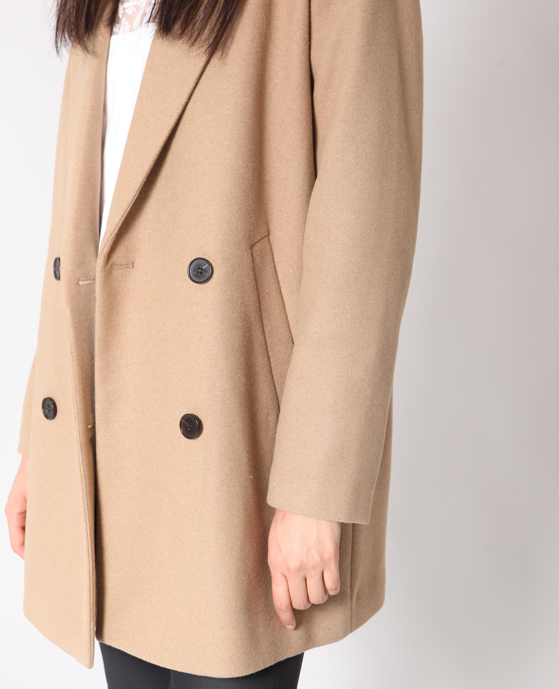 Manteau en laine caramel 280180721A07 | Pimkie