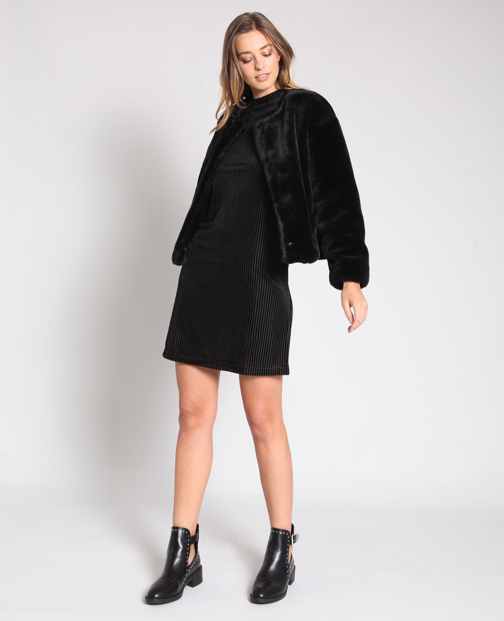 Robe à manches courtes noir - Pimkie