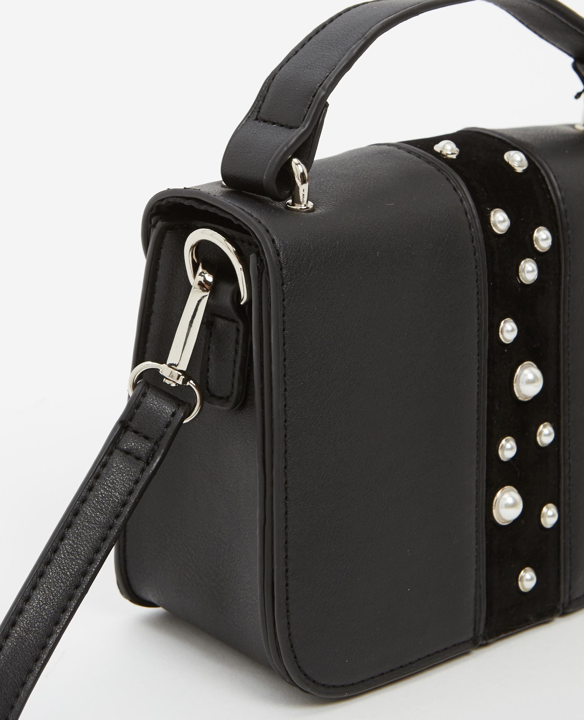 Petit sac à perles noir - Pimkie