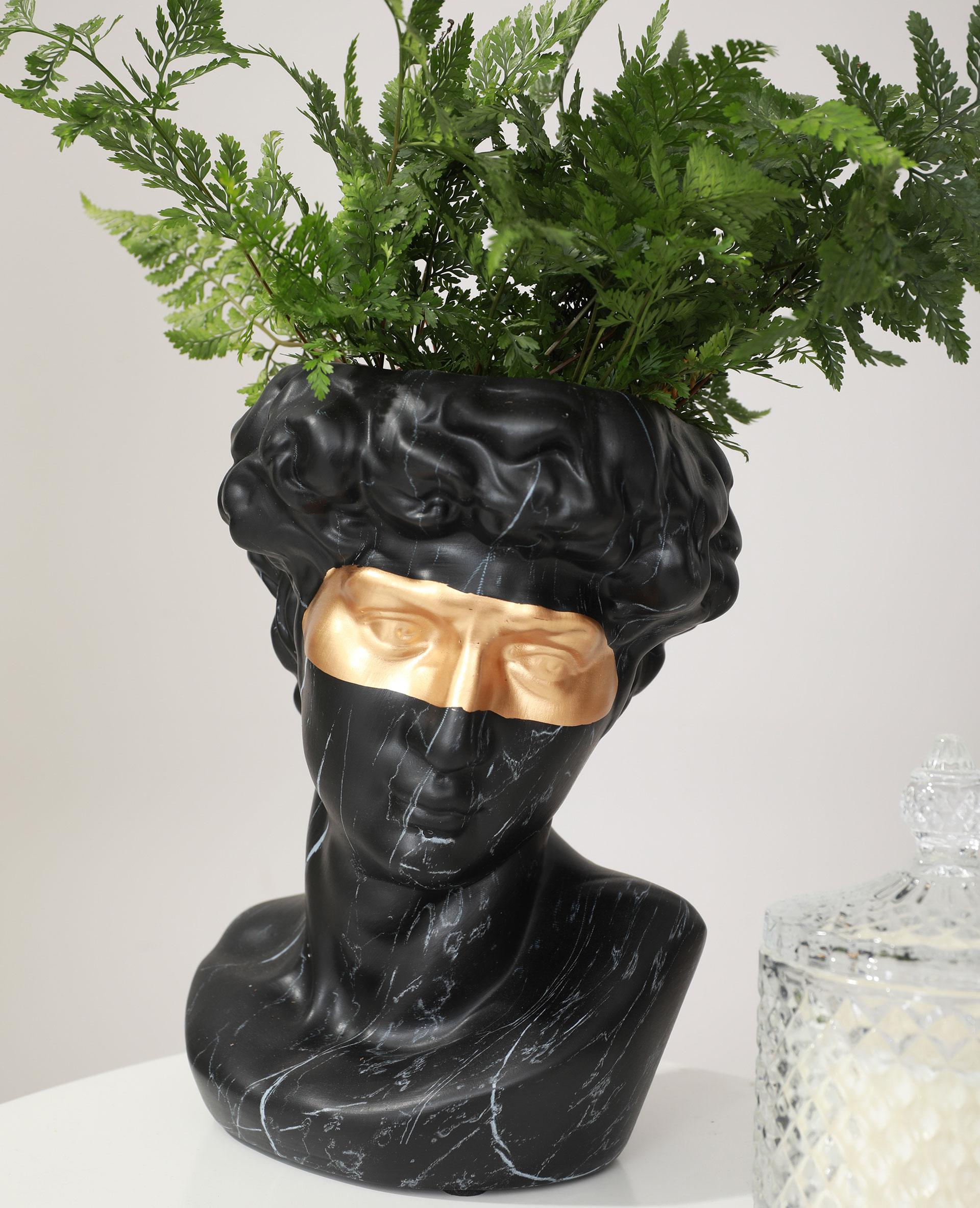 Vase tête d'homme noir - Pimkie