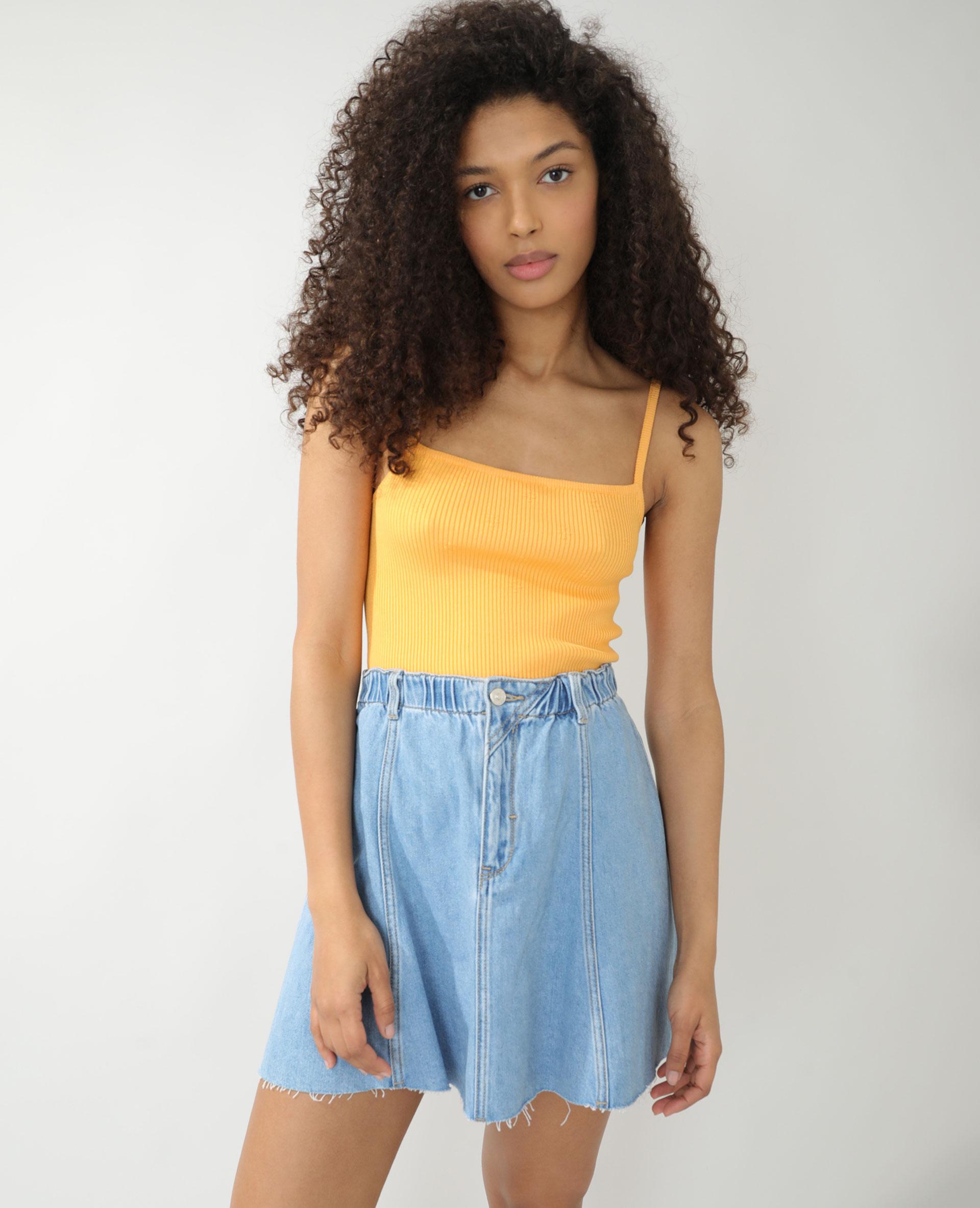 Top côtelé orange - Pimkie