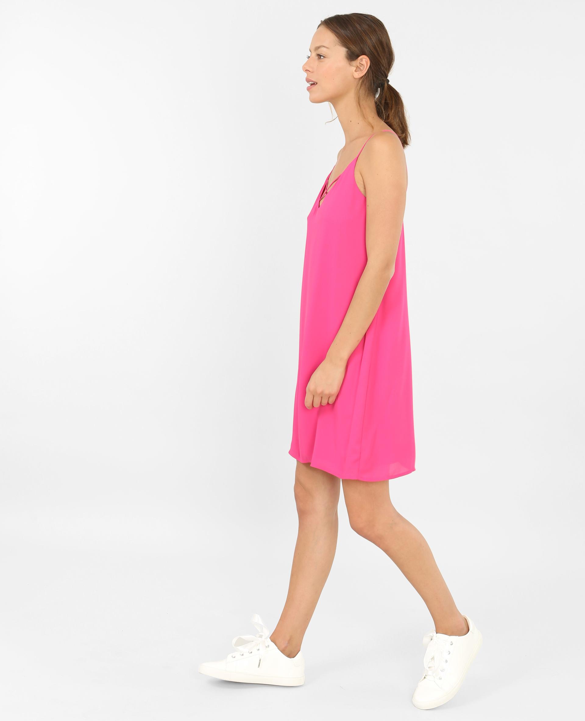 69ec77e426 Robe croisée rose fushia - 780690I21A02 | Pimkie