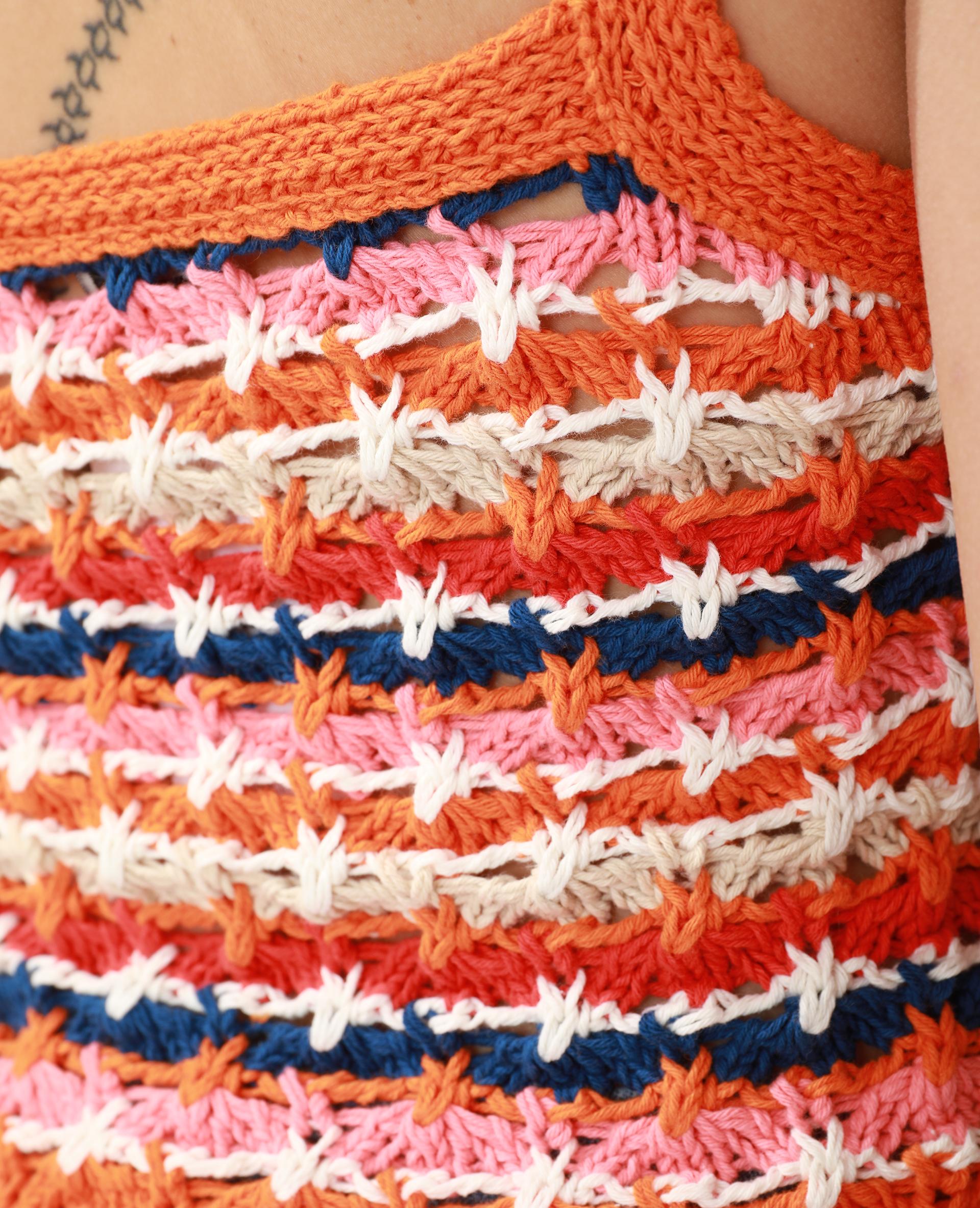 Top en crochet bleu - Pimkie