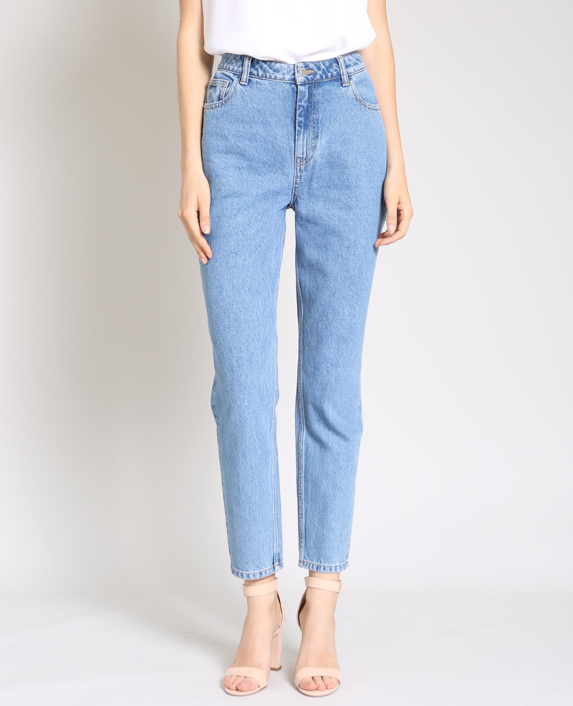 789e73c5d5e Jean taille haute bleu foncé