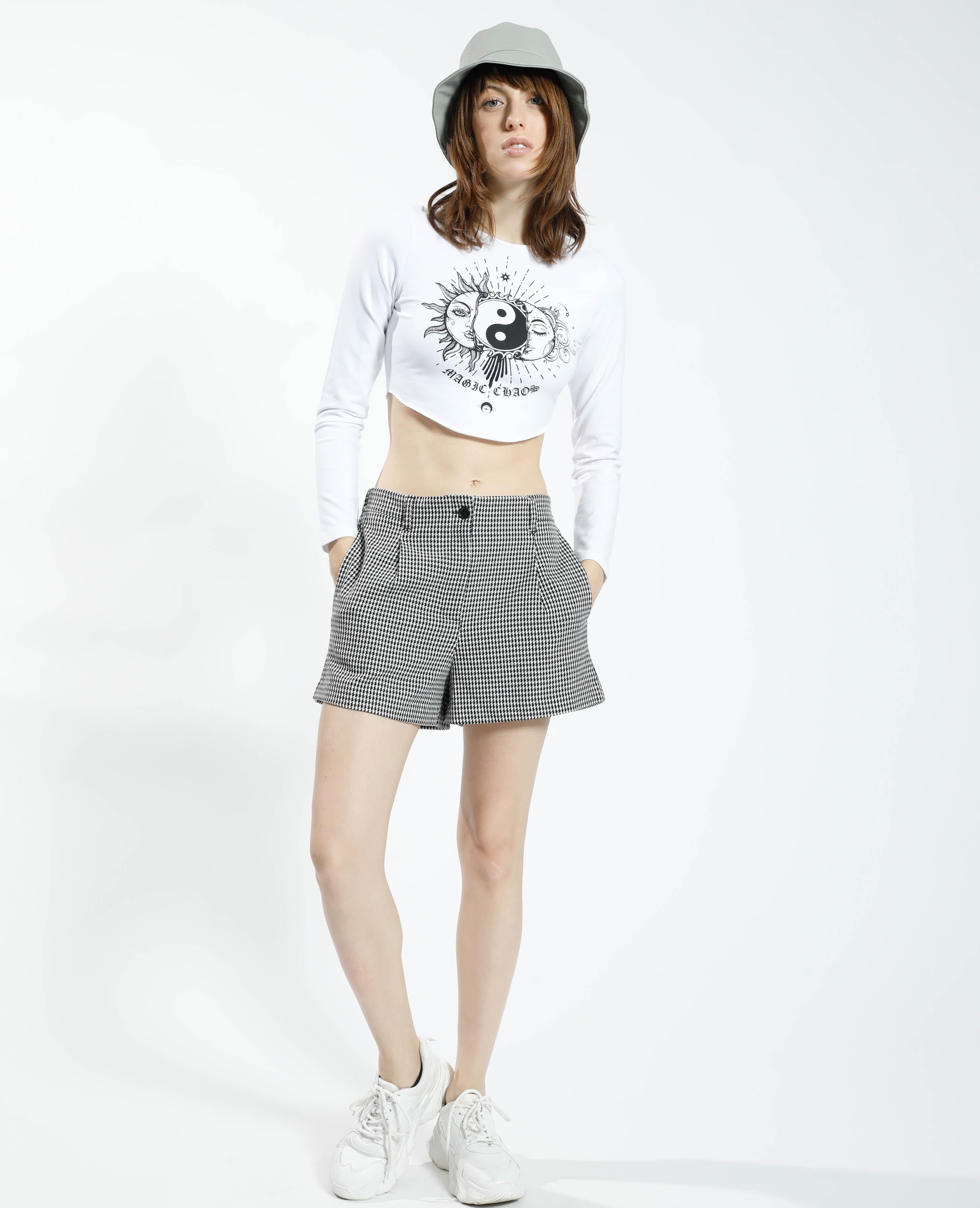 T-shirt cropped zen blanc - Pimkie