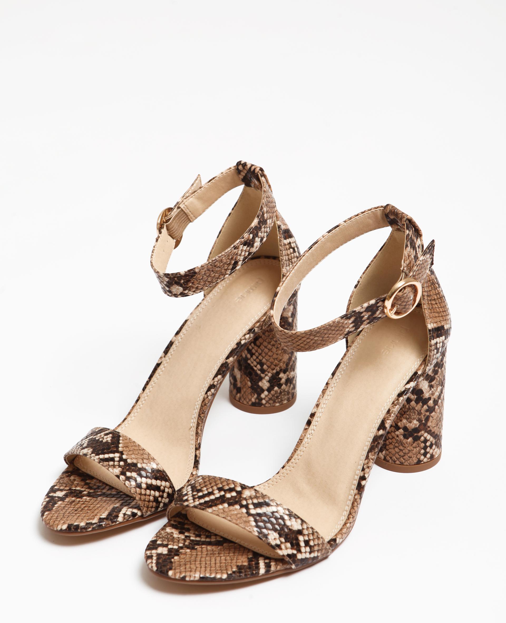 sandale talon python