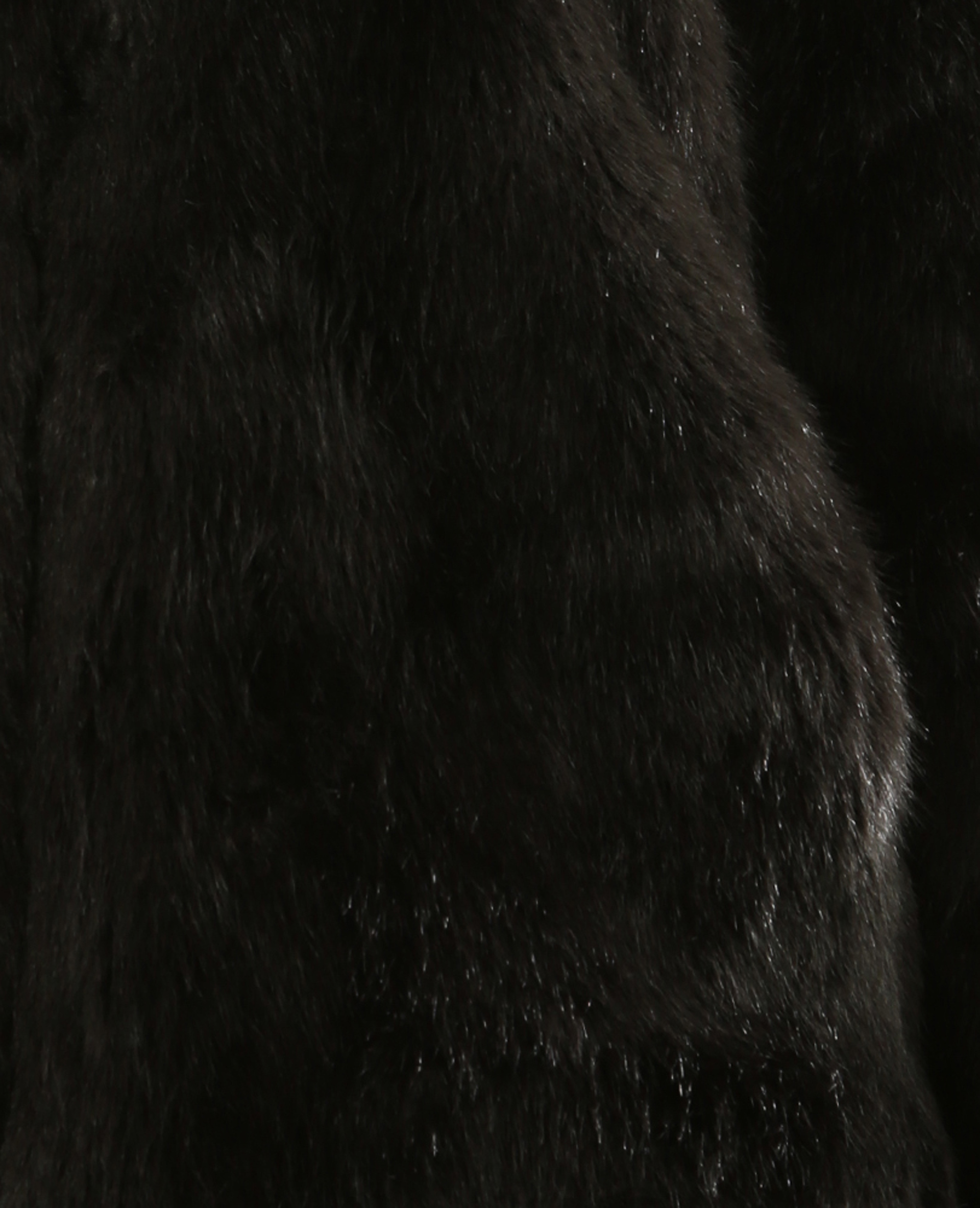 Veste fausse fourrure noir - Pimkie
