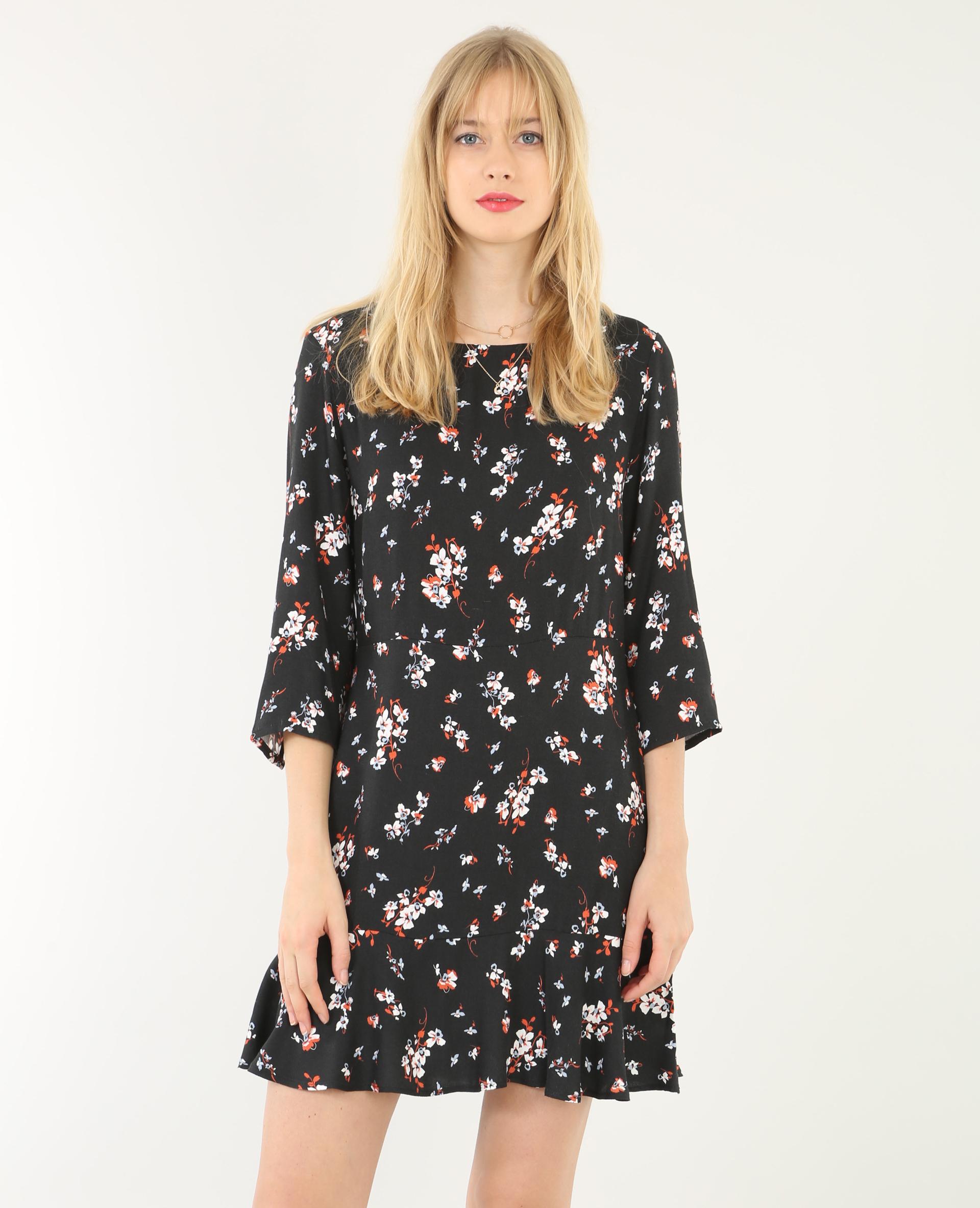 Robe fleurie noir 780543899e33 pimkie - Kleider pimkie ...