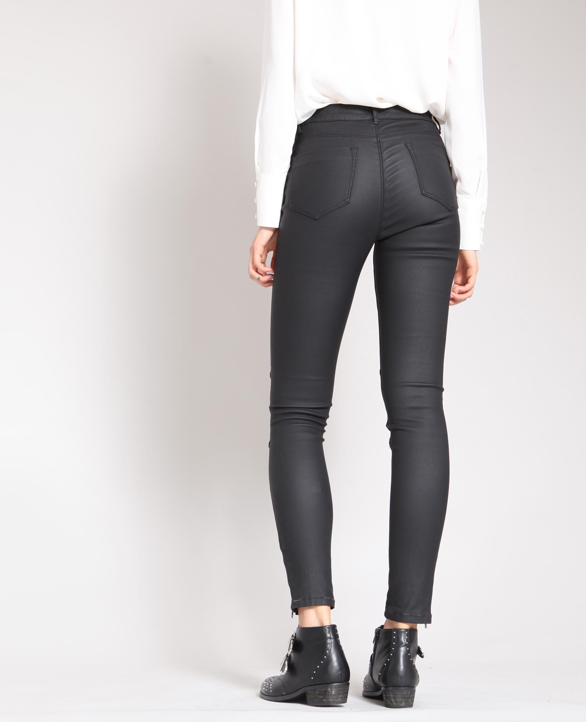 5c7bf77aabb5c Skinny enduit noir -30% - 140666899A08 | Pimkie