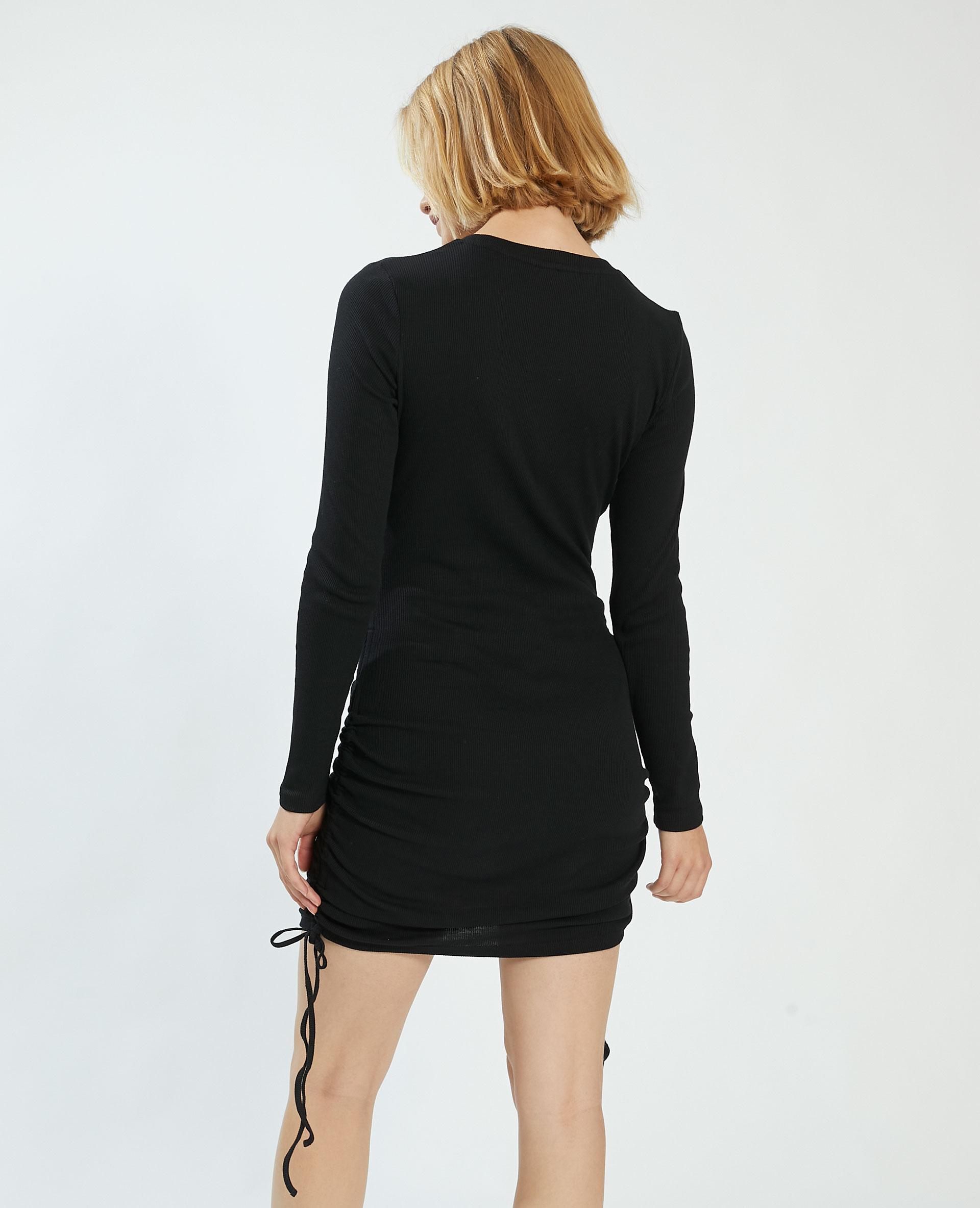 Robe côtelée noir - Pimkie