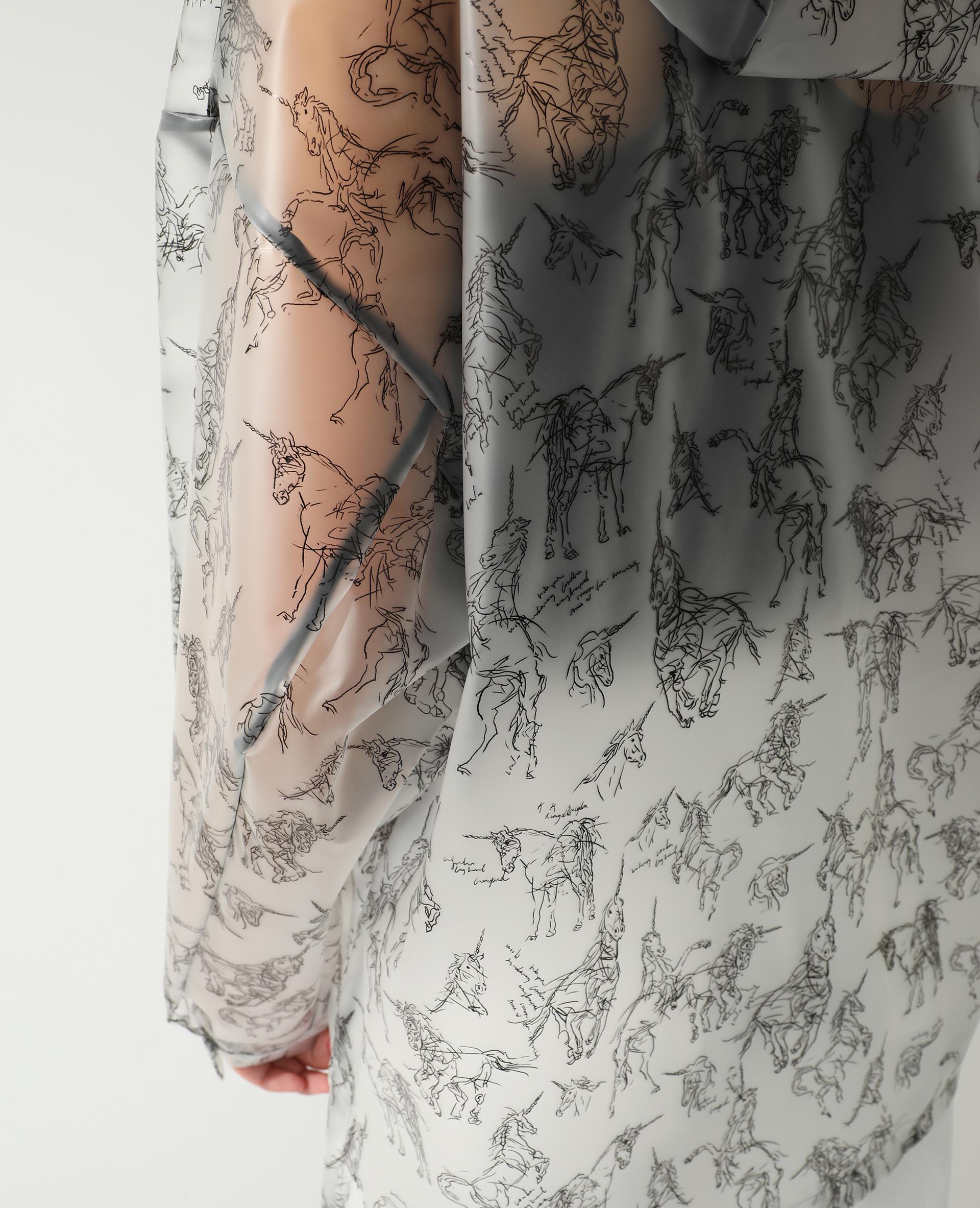 Imperméable à capuche licornes blanc - Pimkie