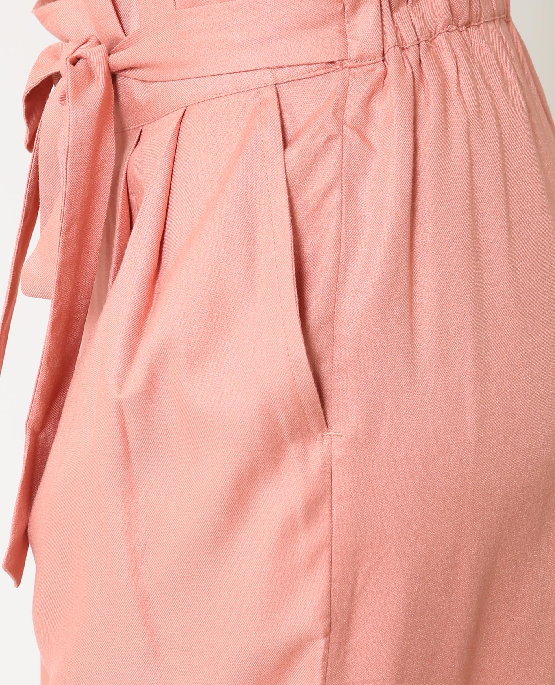 c2771816aed4a Pantalon large rose poudré - 140630I25A02   Pimkie