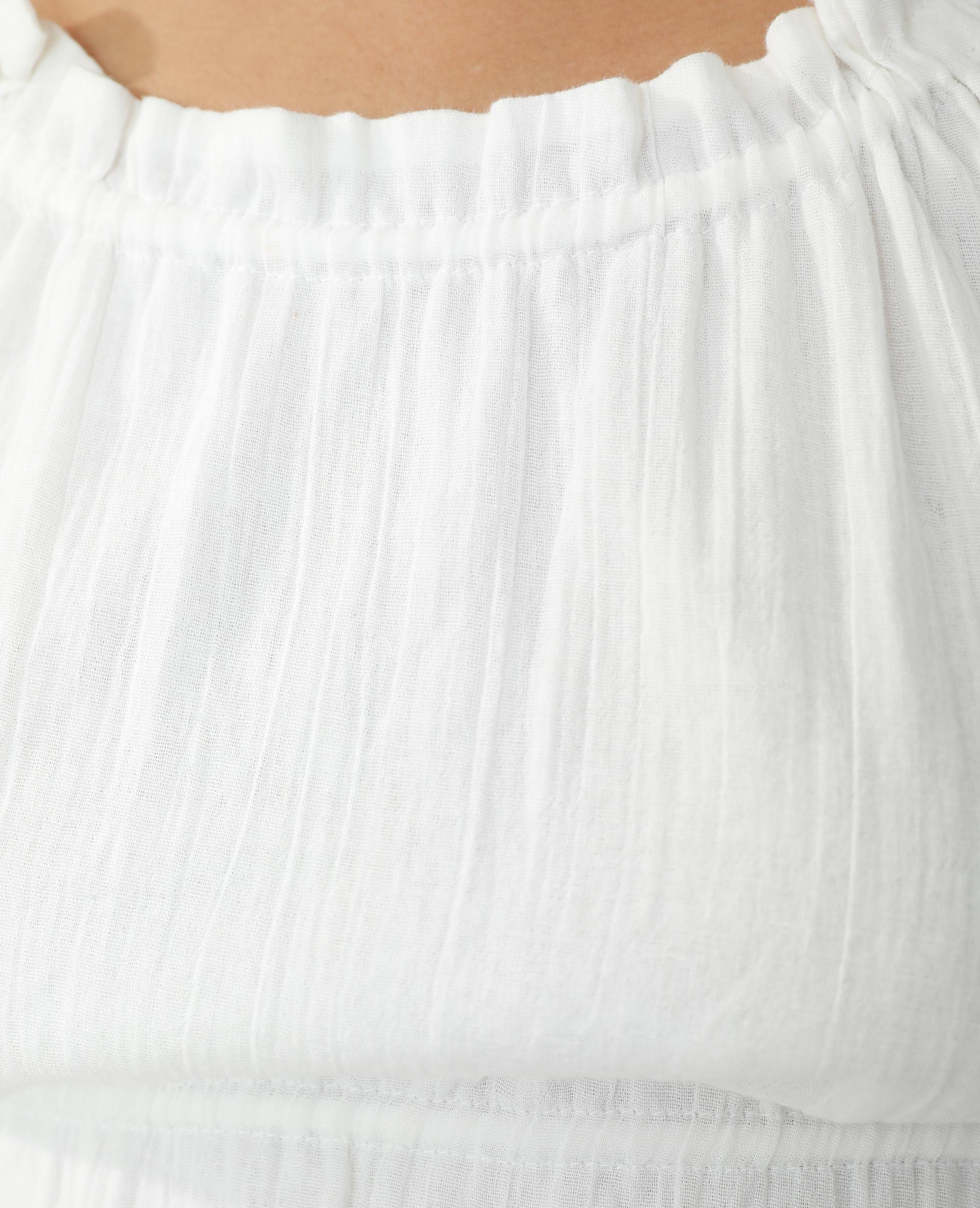 Top en voile blanc cassé - Pimkie