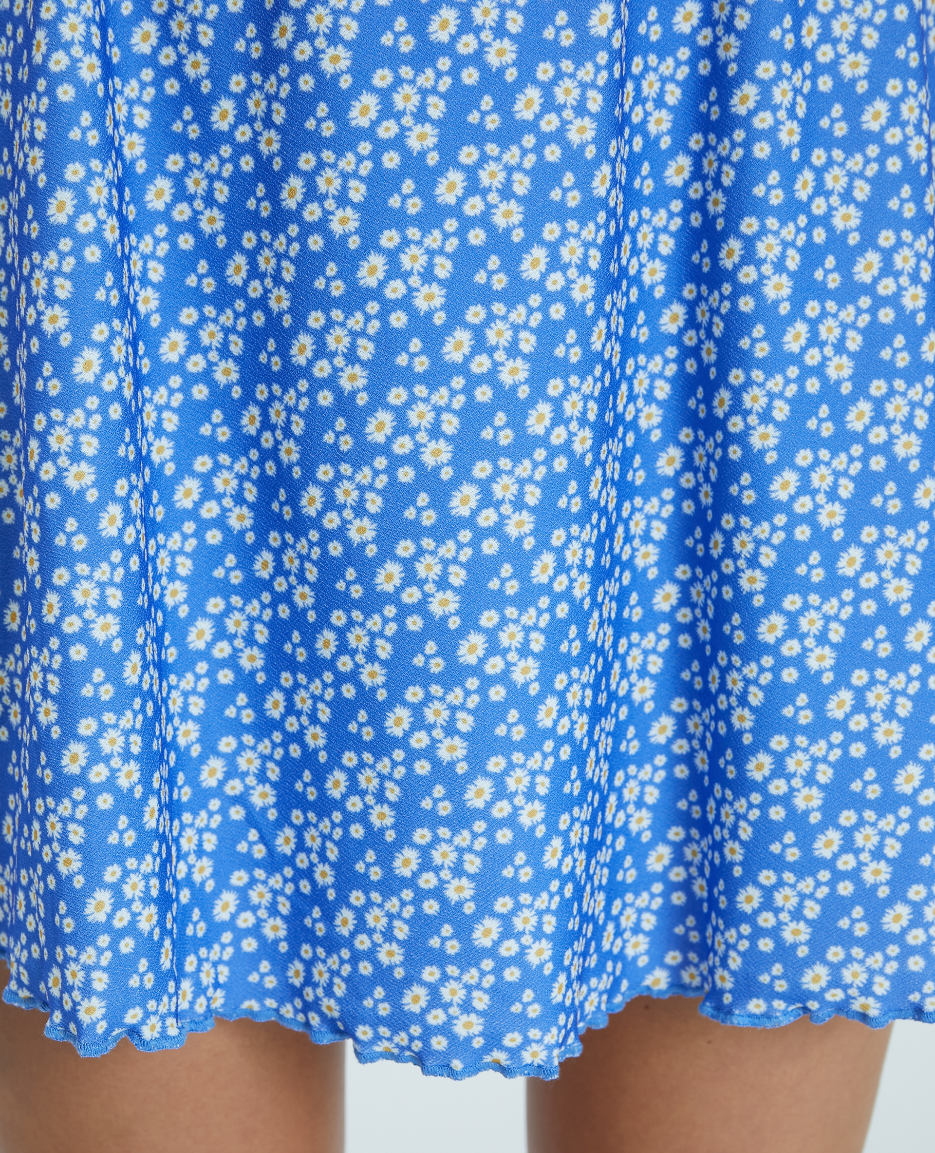 Jupette fleurie bleu - Pimkie