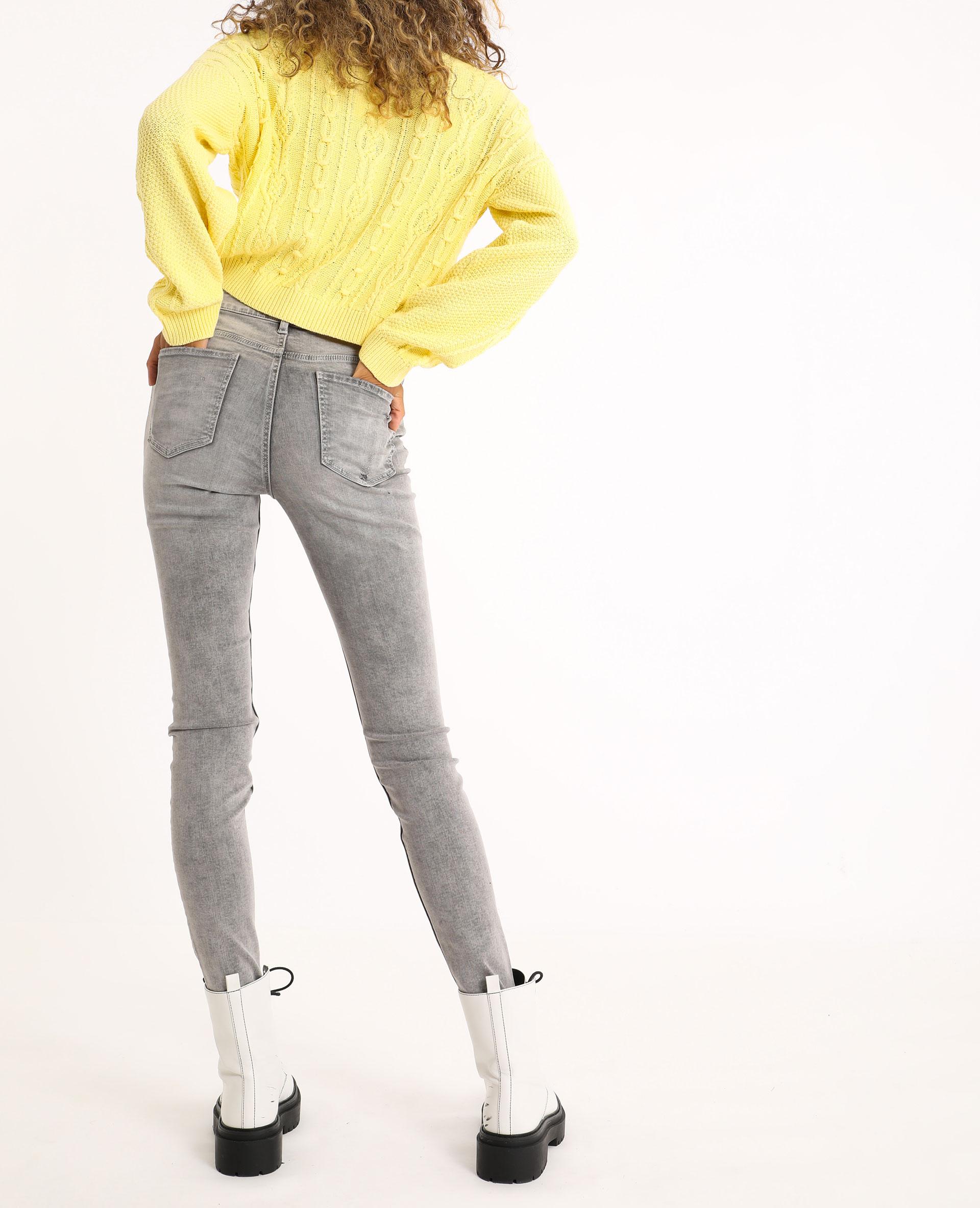 Jean skinny mid waist gris - Pimkie