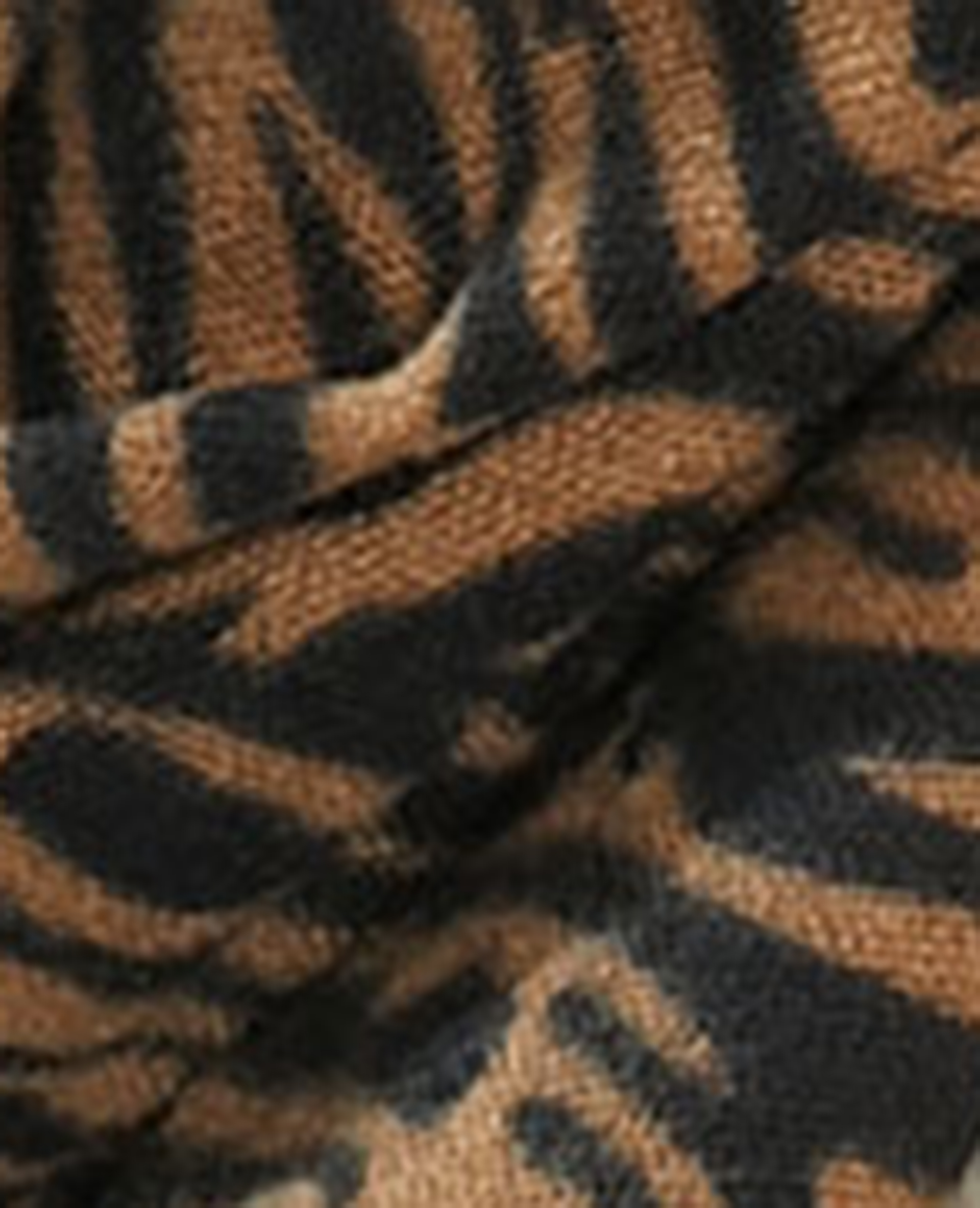 Echarpe à motifs fantaisie brun - Pimkie