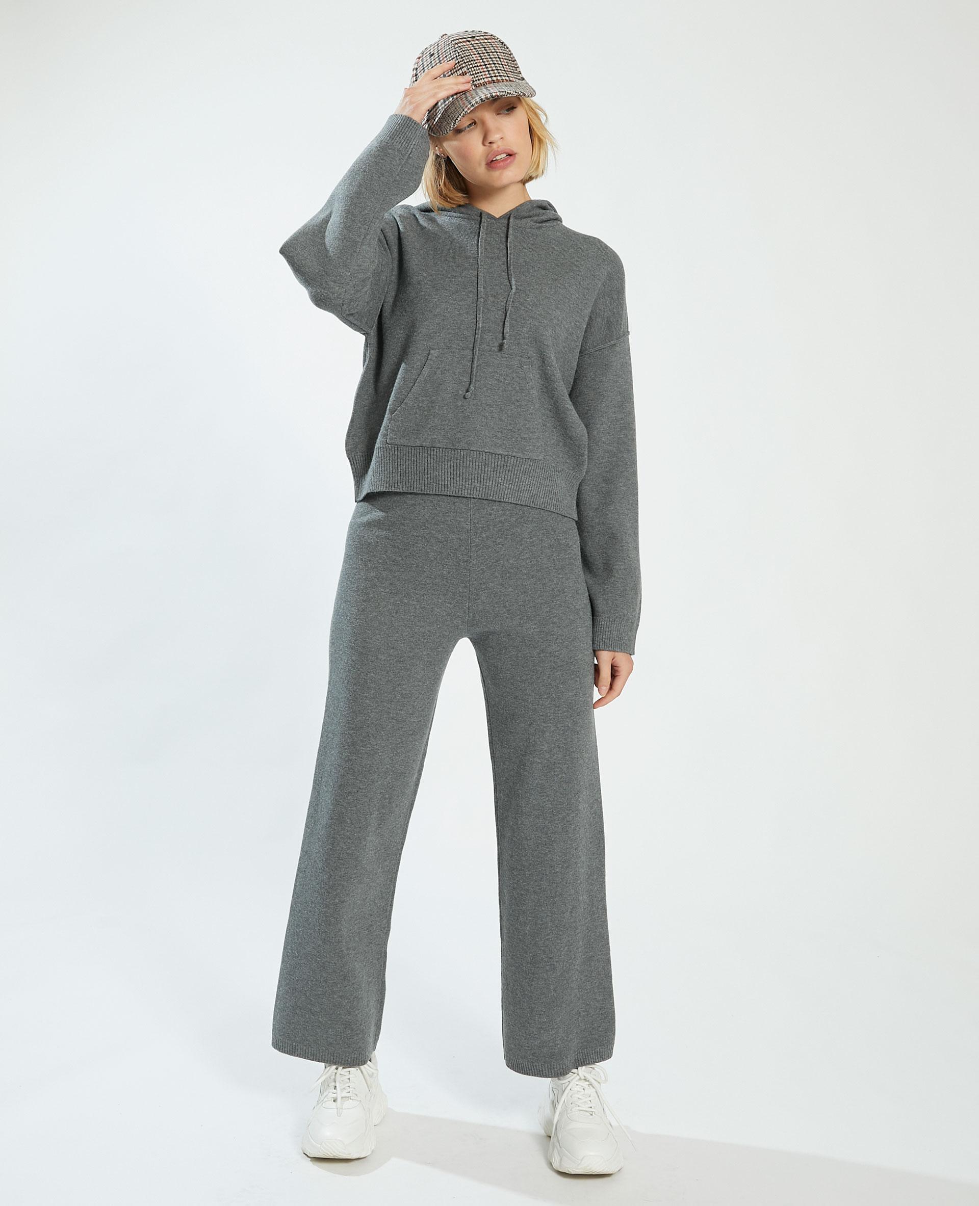 Pantalon wide leg gris - Pimkie