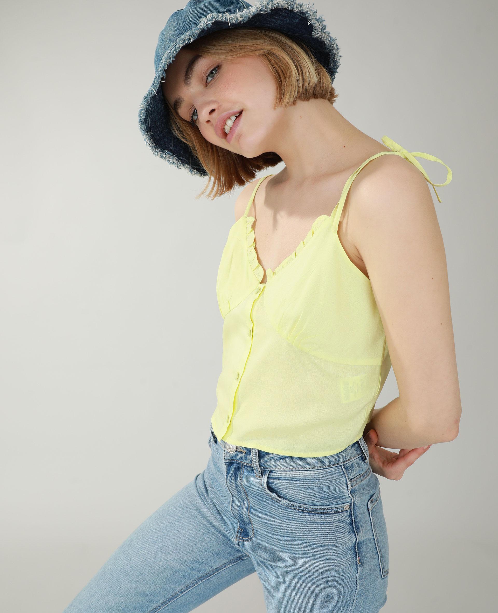 Top jaune - Pimkie
