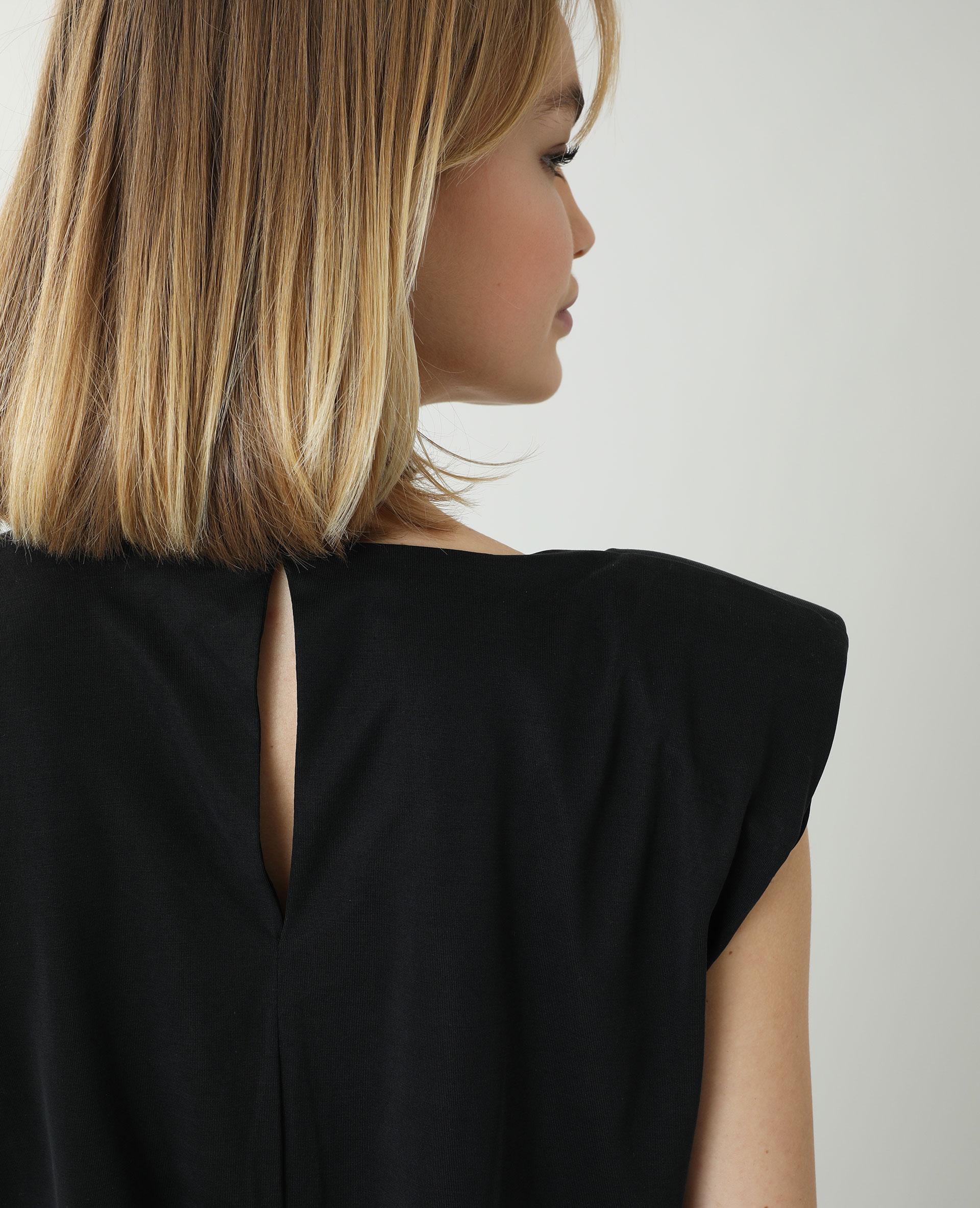 Robe droite à épaulettes noir - Pimkie