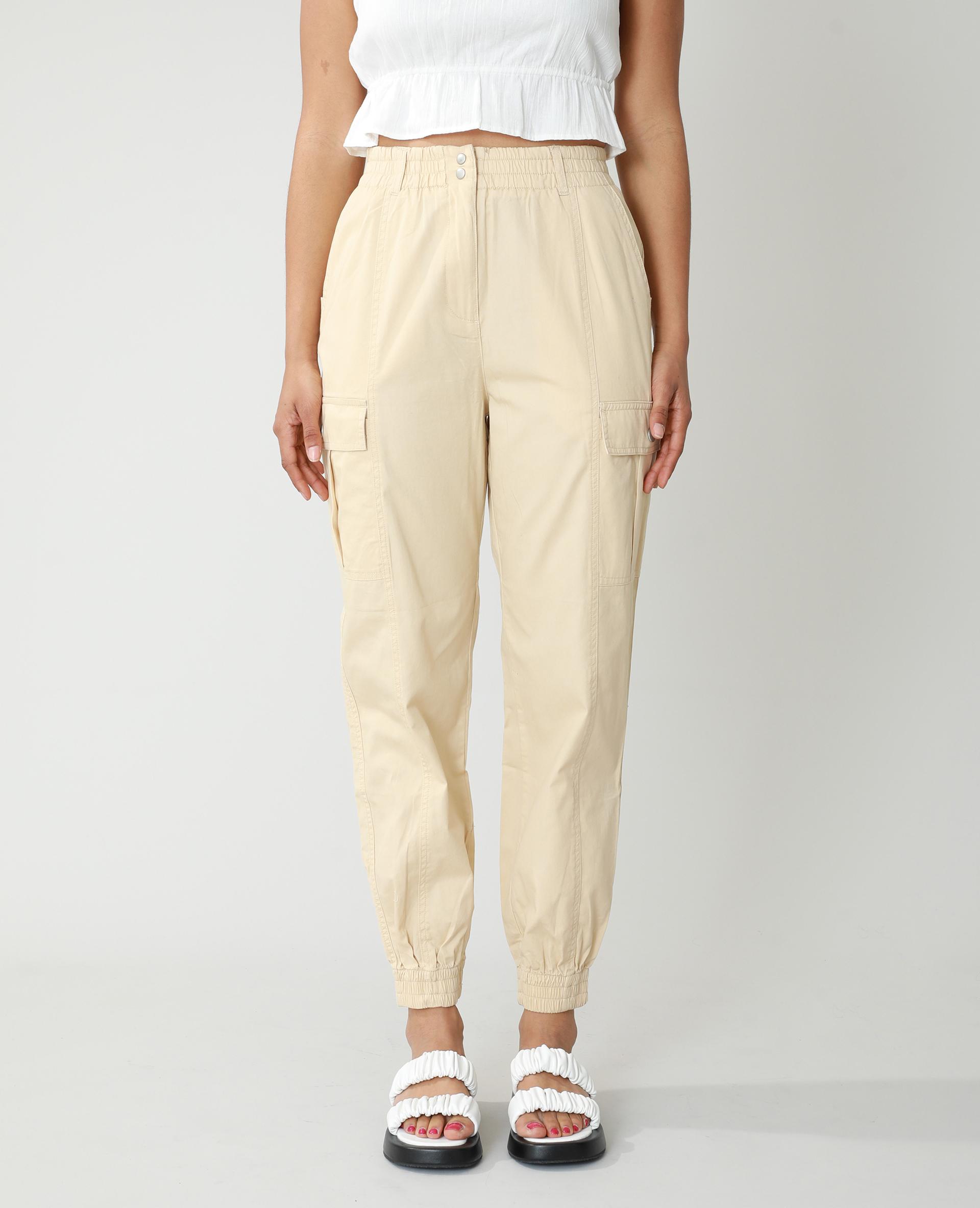 Pantalon cargo beige - Pimkie